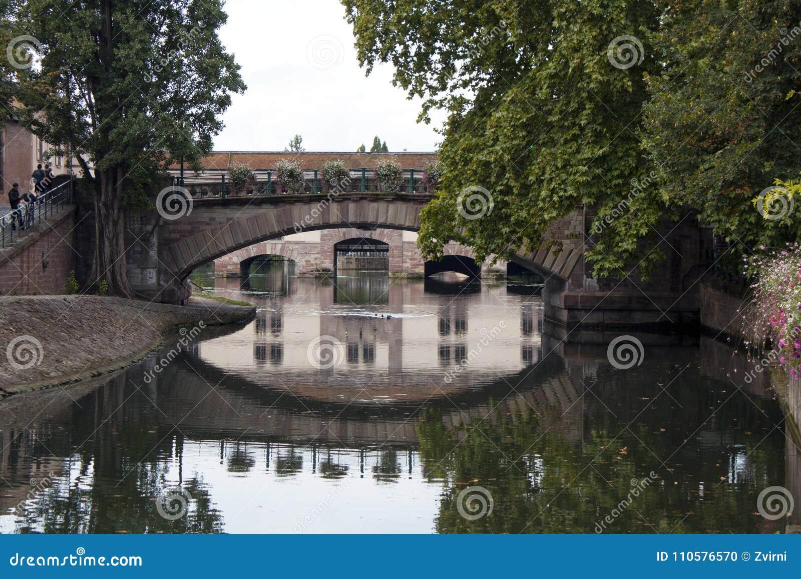 在运河的桥梁,史特拉斯堡Frence