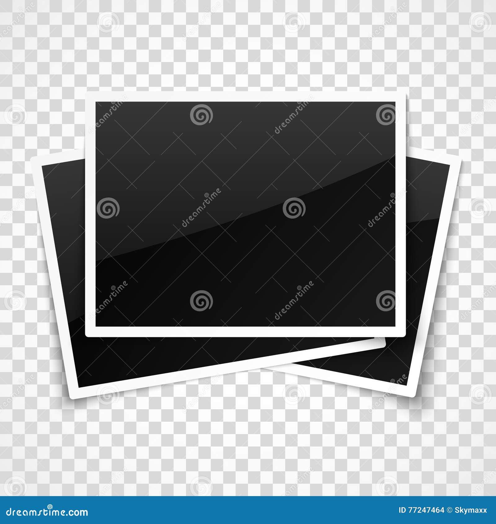 在透明方格的背景的空的照片框架