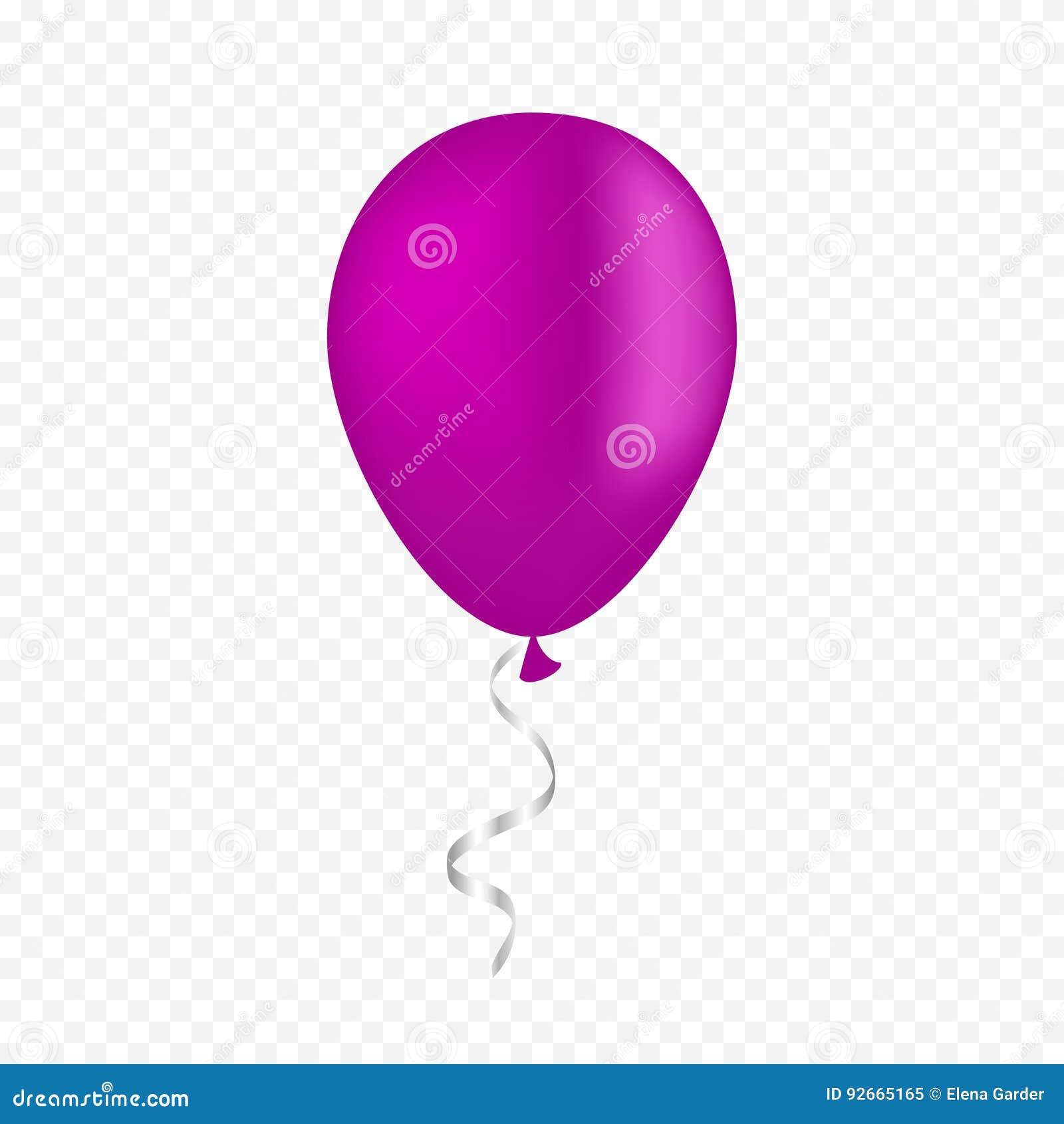 在透明背景的传染媒介白色气球 3d现实节日快乐飞行的空气氦气气球