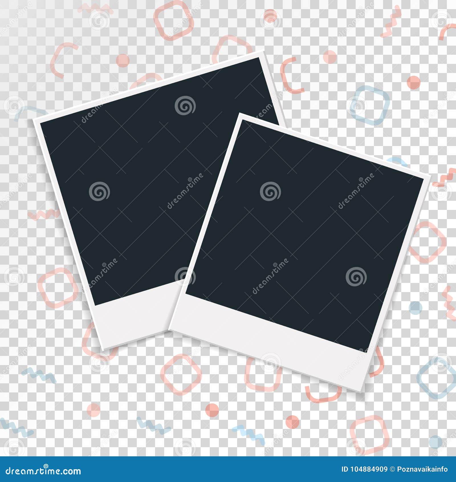 在透明背景的偏正片照片框架 也corel凹道例证向量