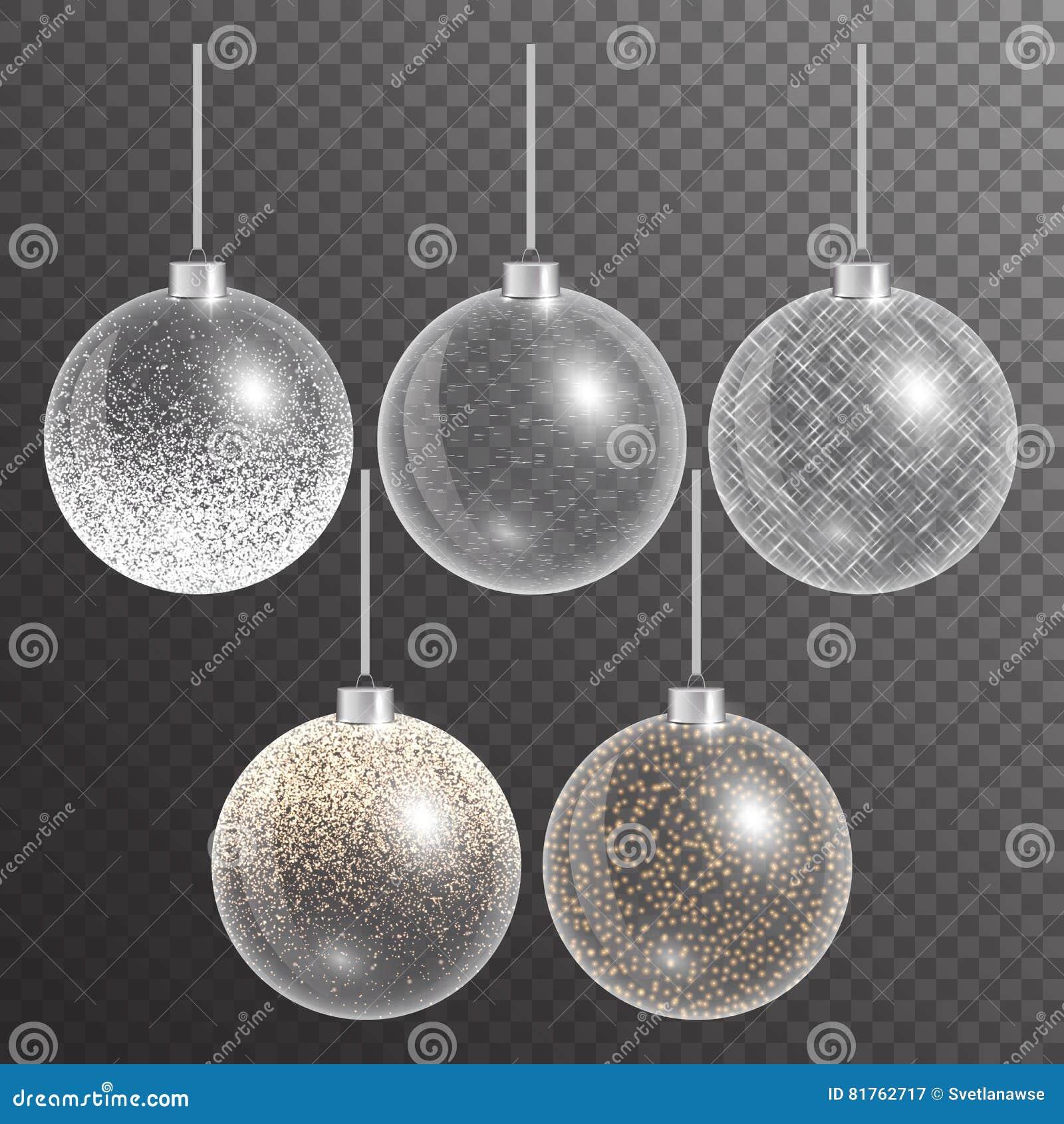 在透明背景的圣诞节球