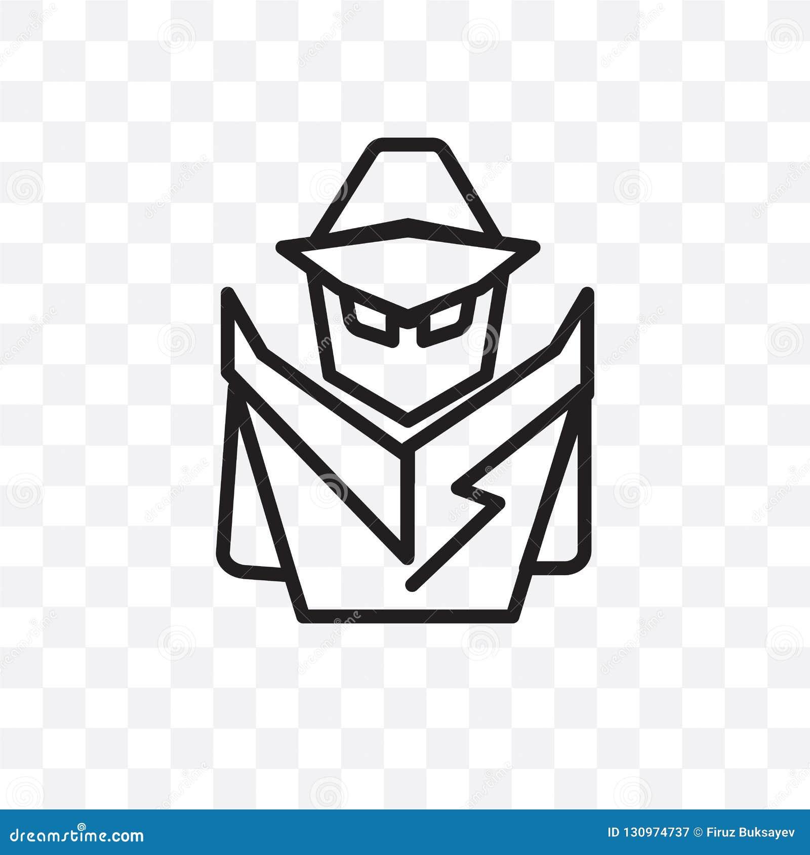 在透明背景隔绝的侦探传染媒介线性象,侦探透明度概念可以为网和mobi使用