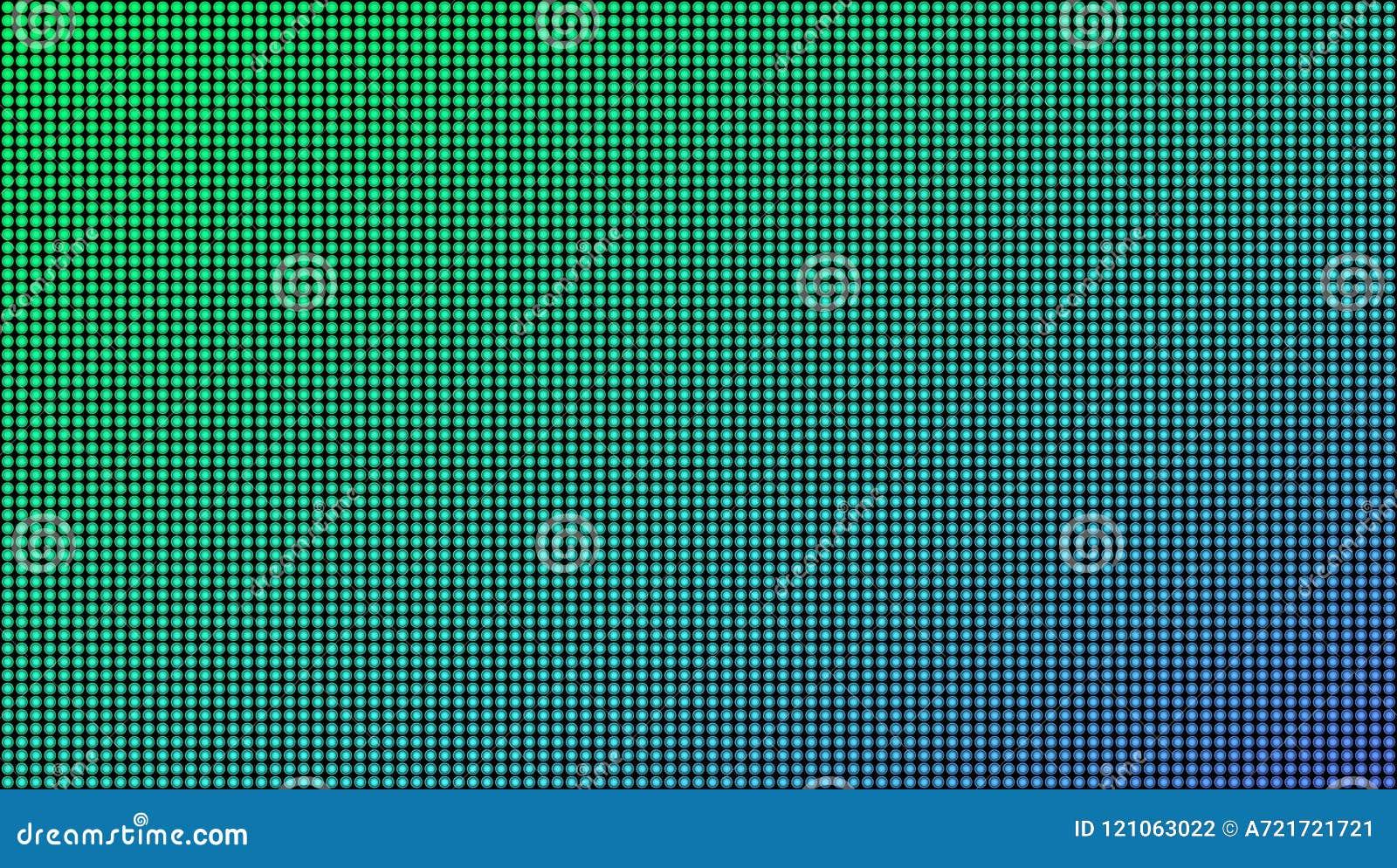在透明背景隔绝的被带领的屏幕宏观纹理的创造性的传染媒介例证 艺术设计rgb二极管