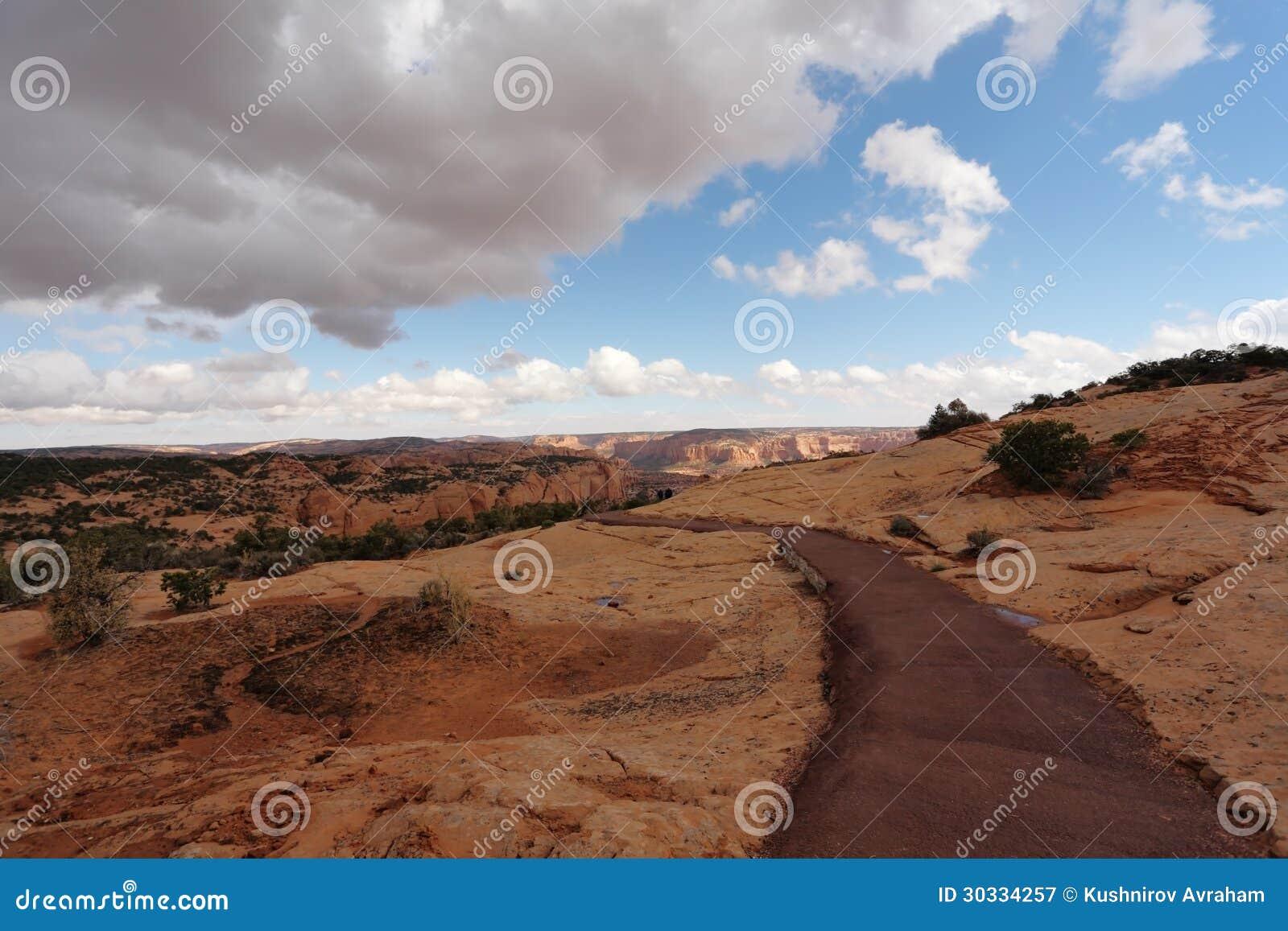在那瓦霍尔人保留地的Thel峡谷