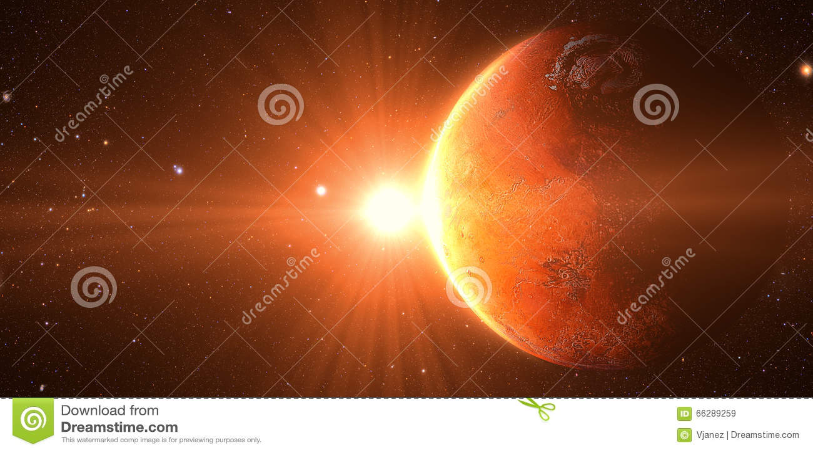 从在金星的空间看的日出