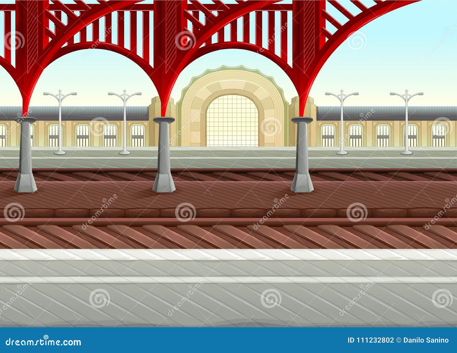 在铁路的看法在火车站