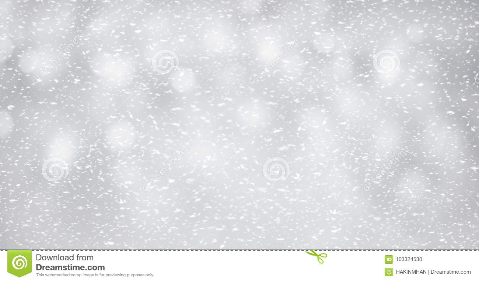 在银色背景的雪 冬天和圣诞节概念