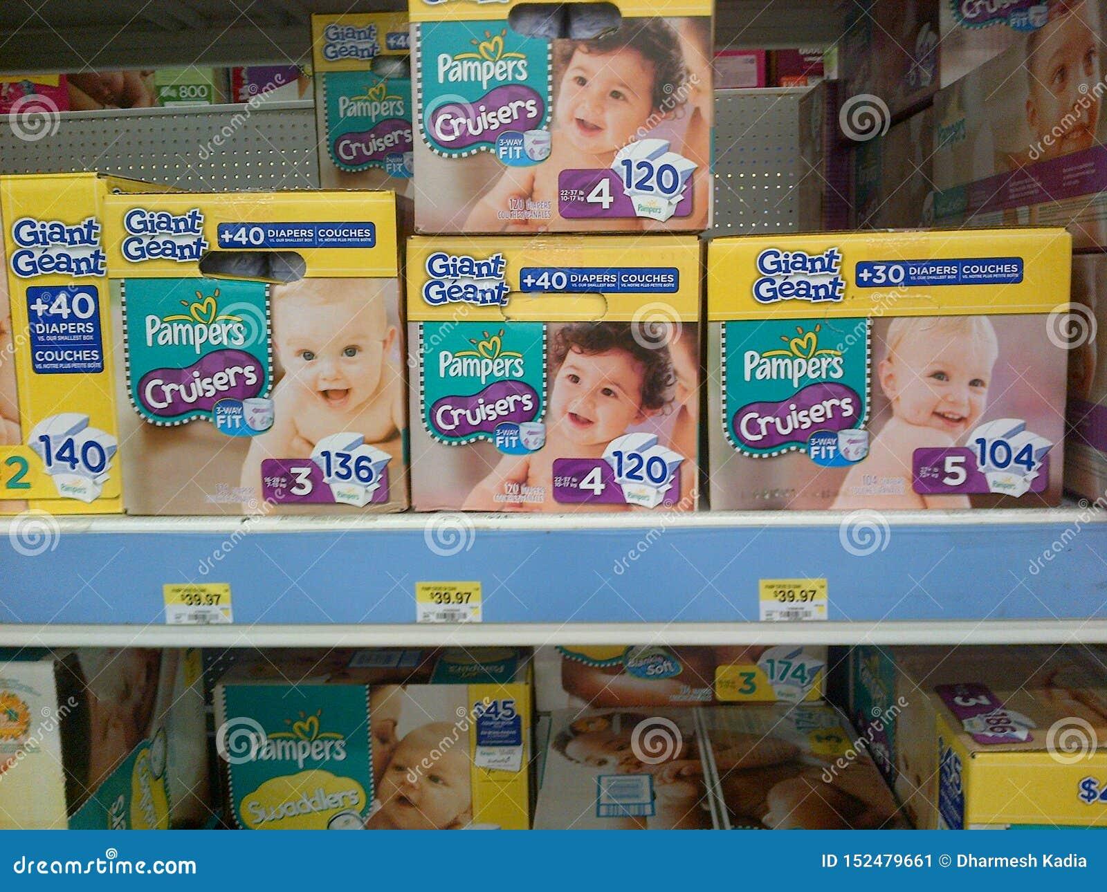 在销售中的婴孩尿布