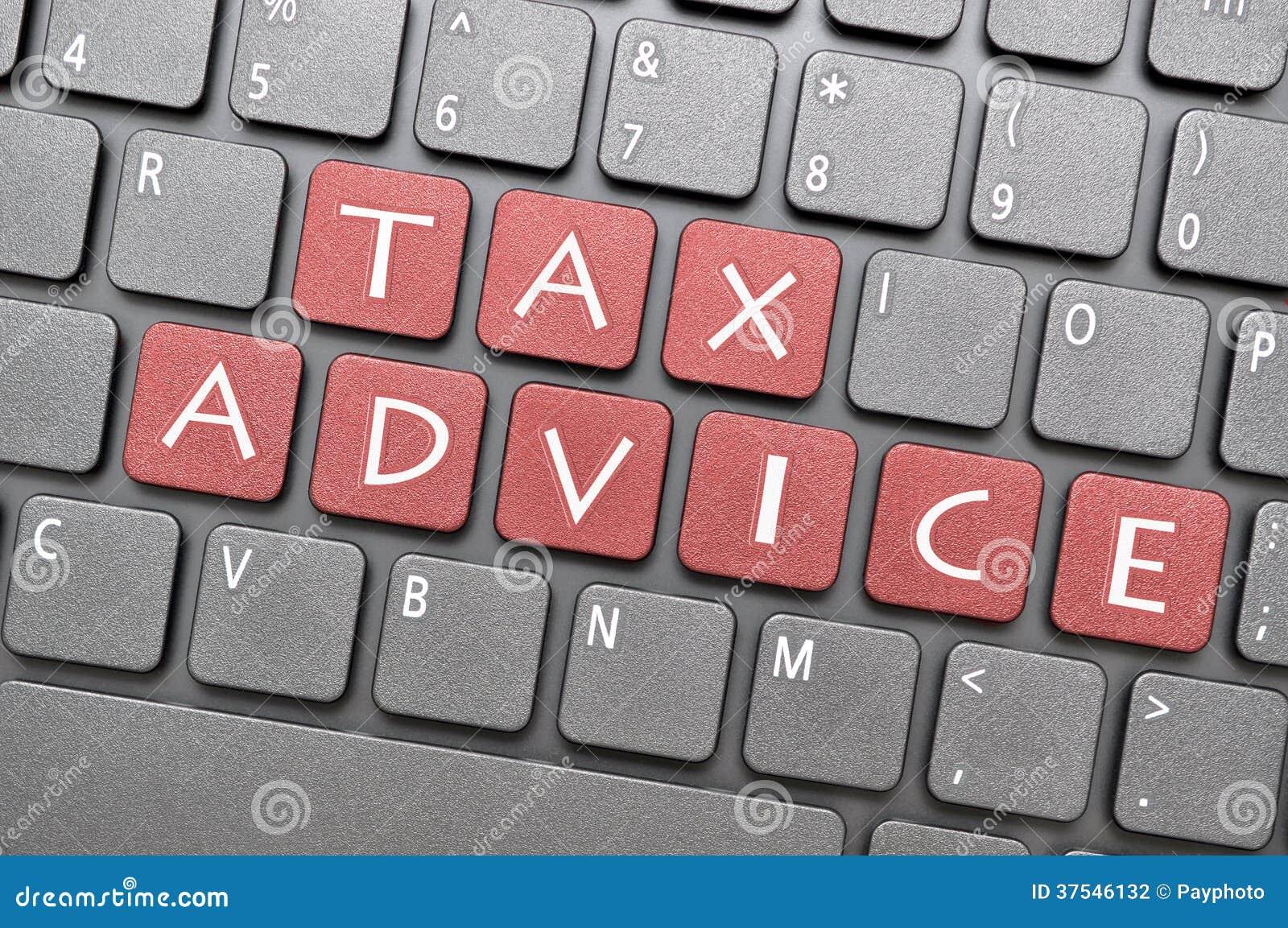 在键盘的税忠告