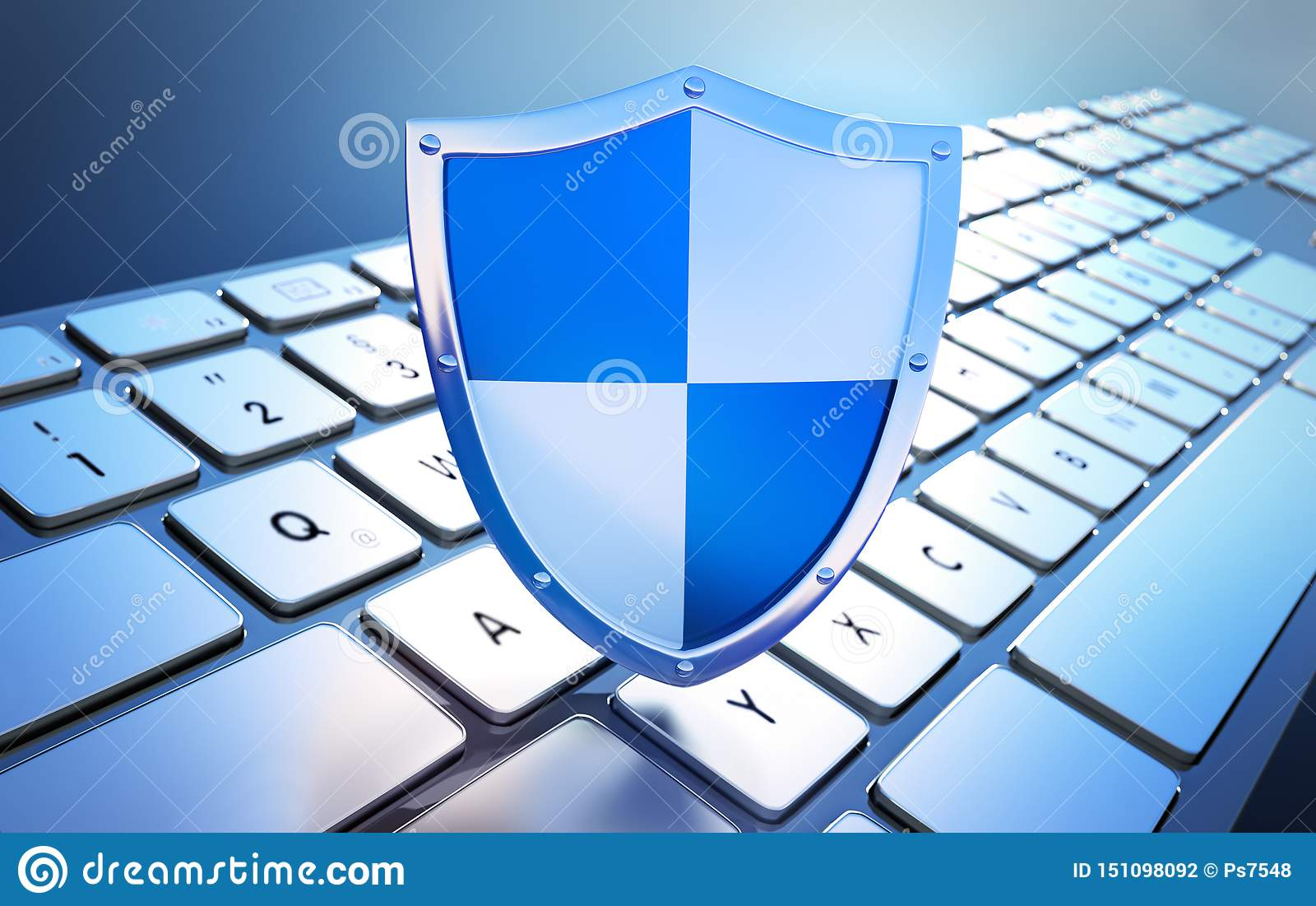 在键盘-概念计算机安全的安全盾