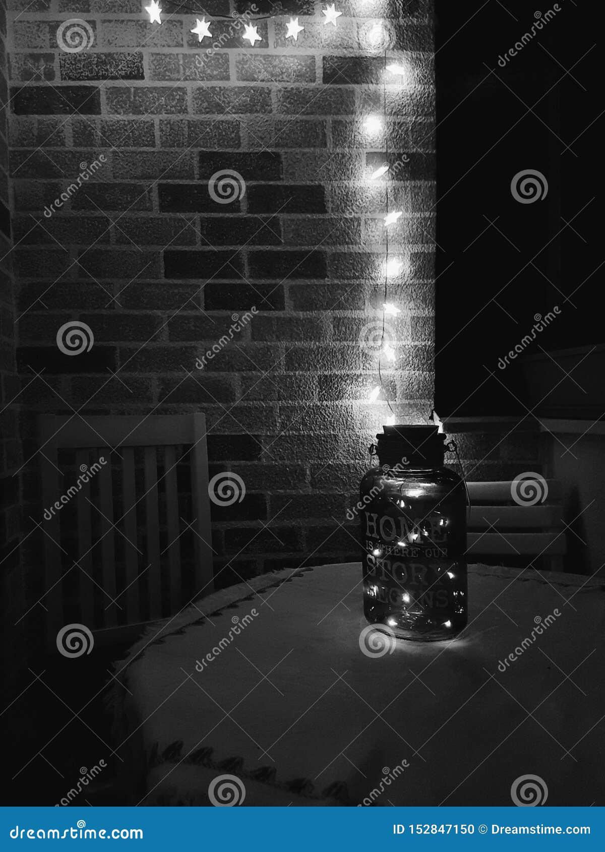 在阳台的光