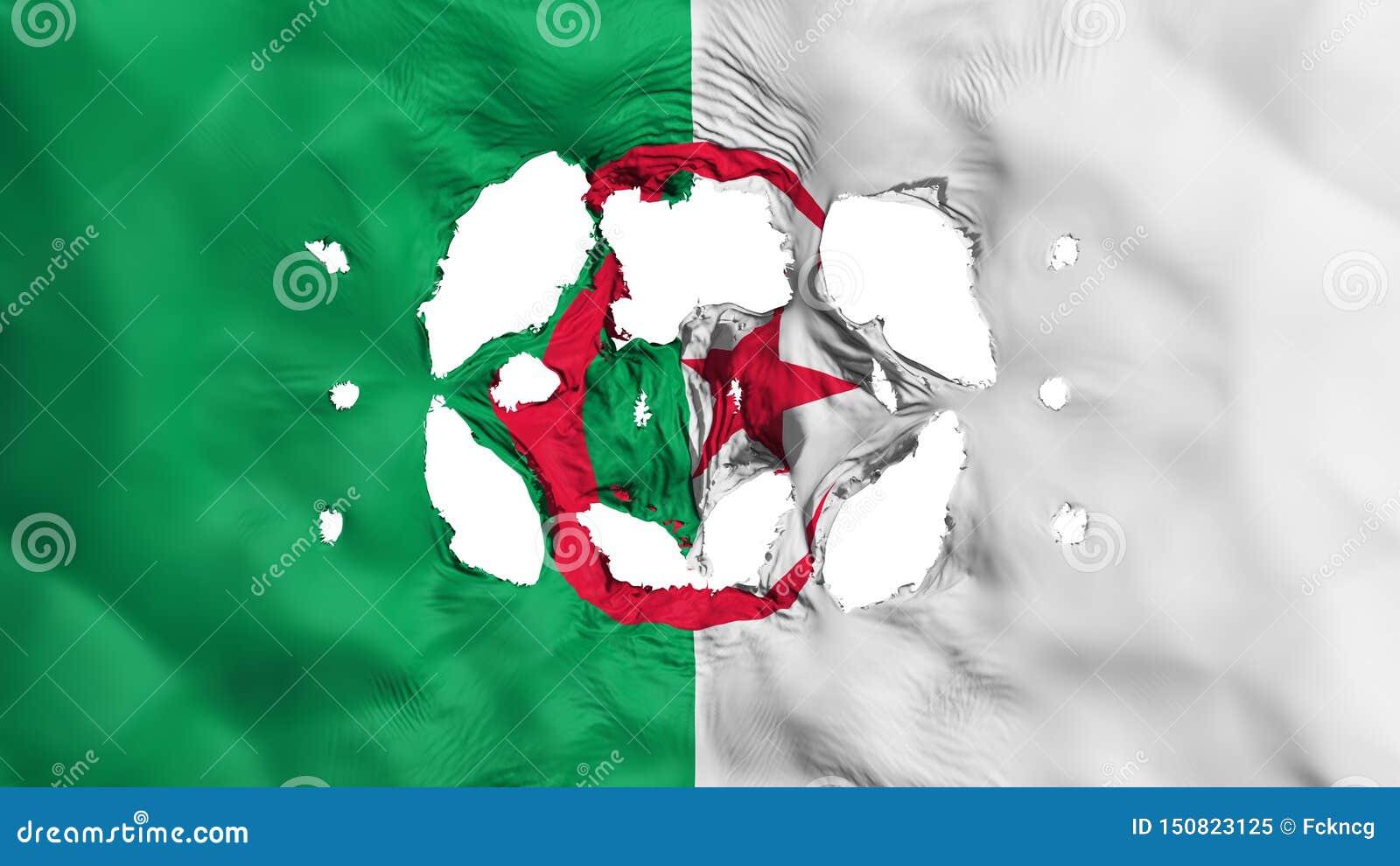 在阿尔及利亚旗子的孔