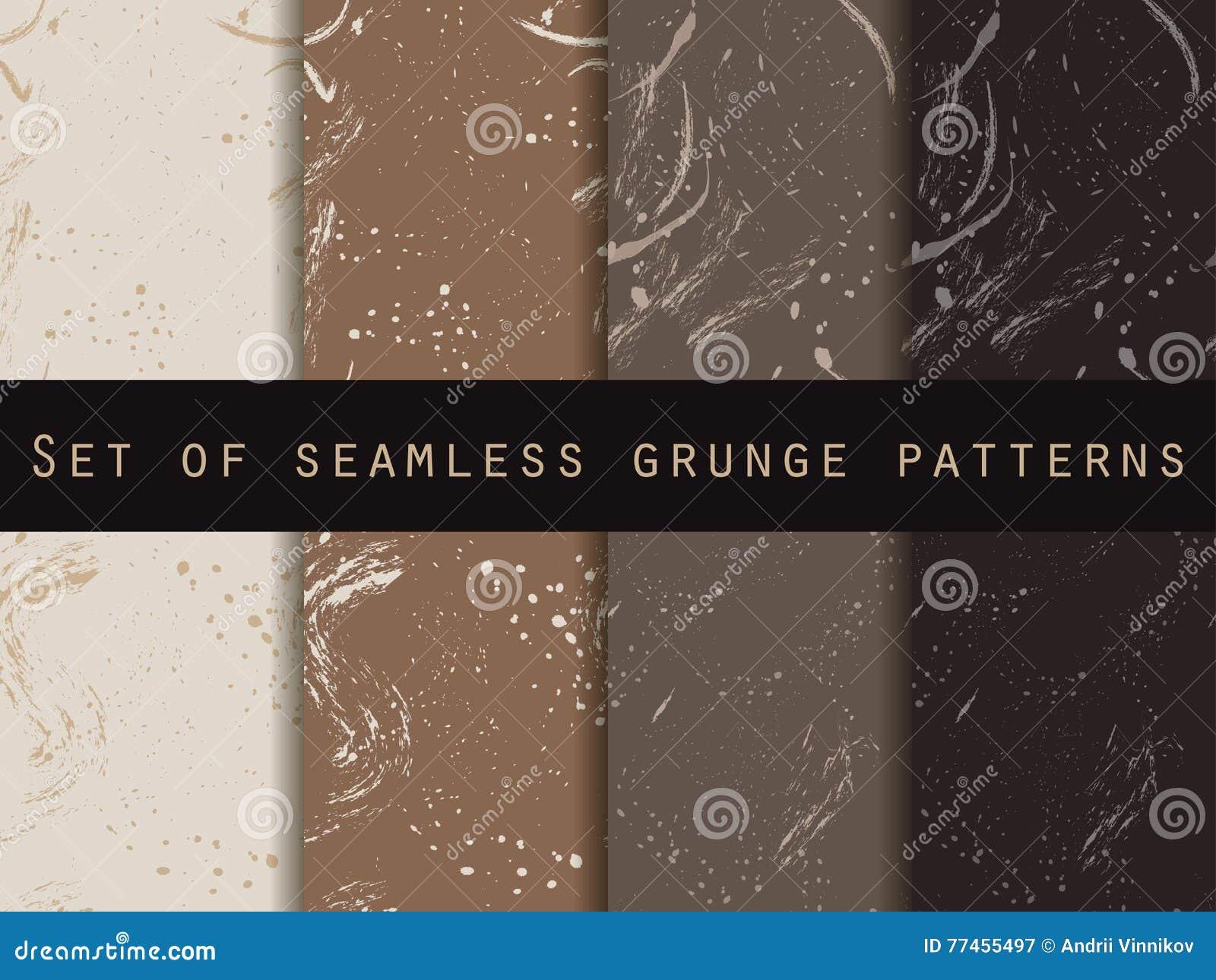 在难看的东西样式的无缝的样式 咖啡颜色 集合 对墙纸,床单,瓦片,织品,背景
