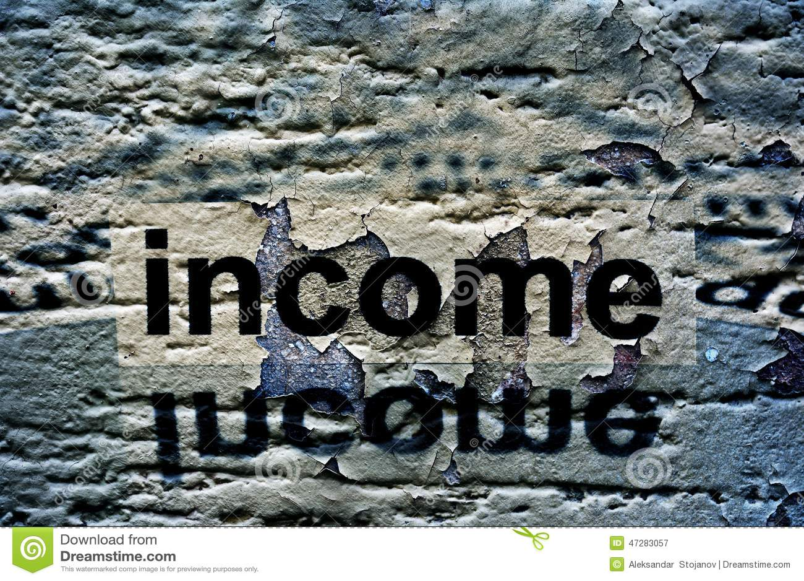 在难看的东西背景的收入文本