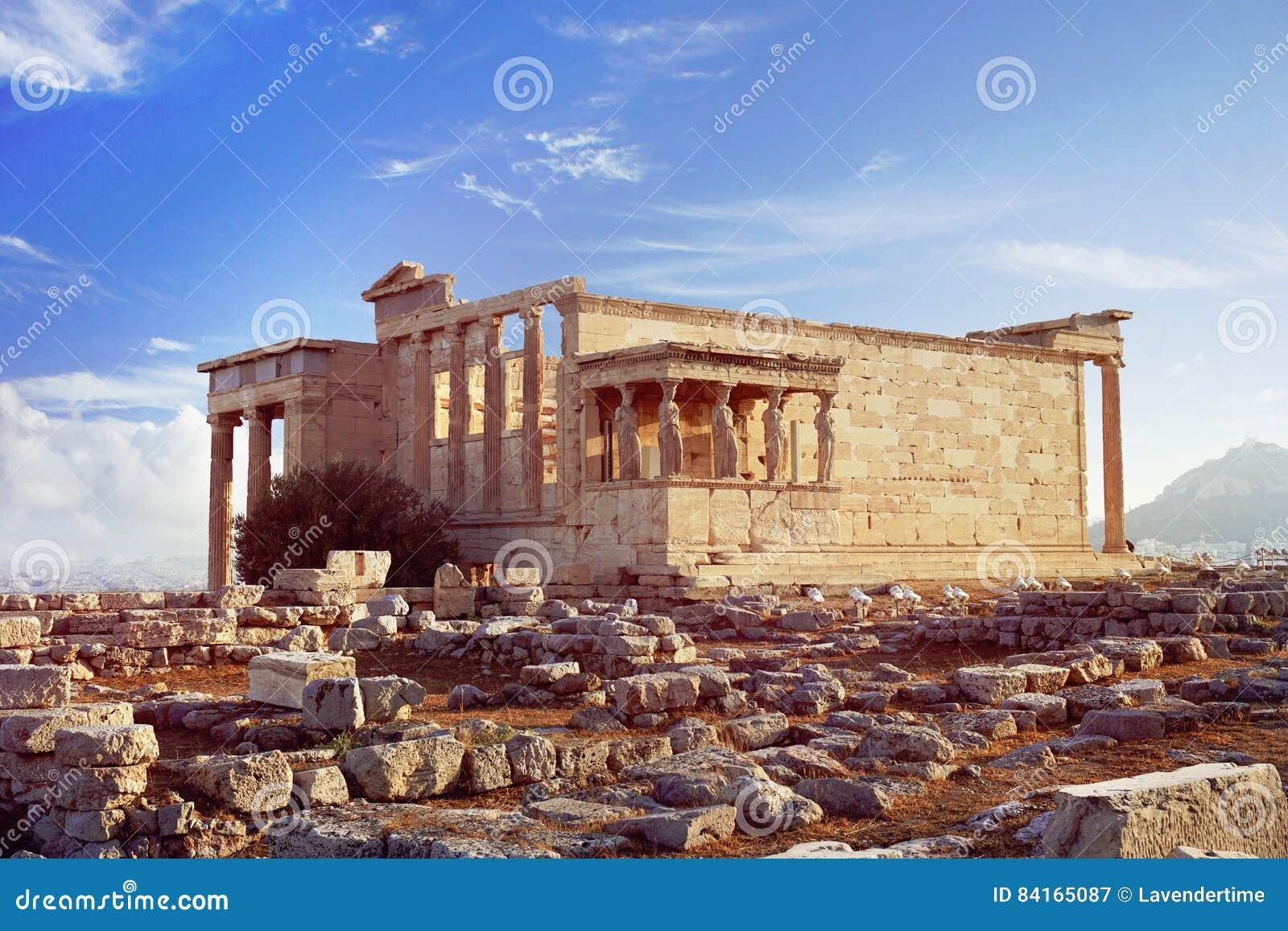 在雅典上城小山的Erechtheion寺庙