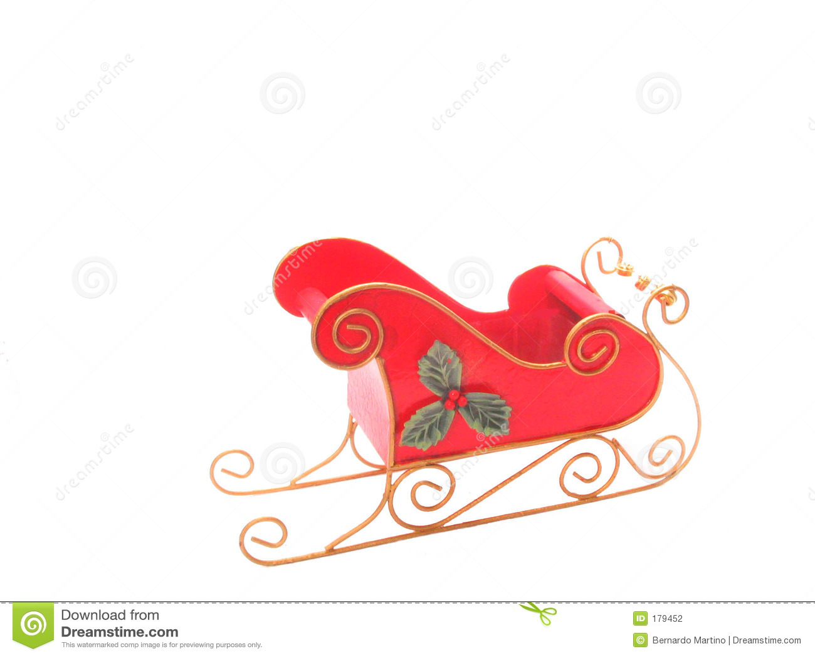 在雪橇白色的圣诞节