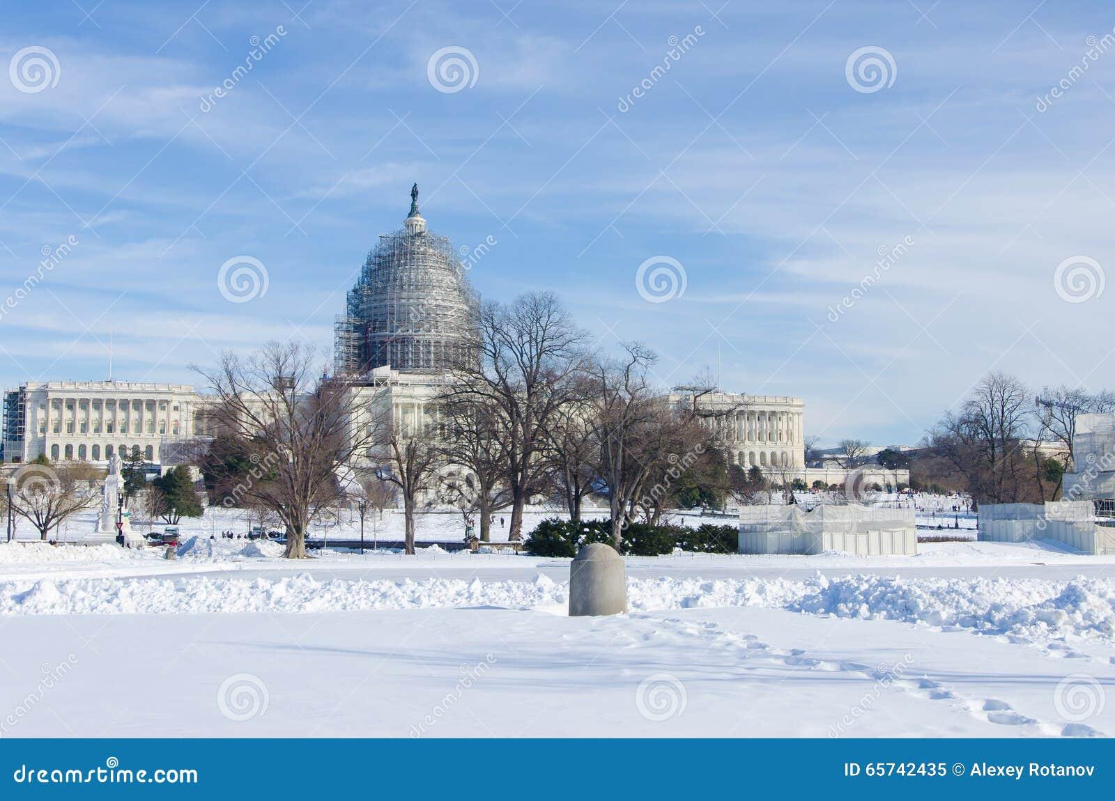 在雪风暴以后的华盛顿特区, 2016年1月