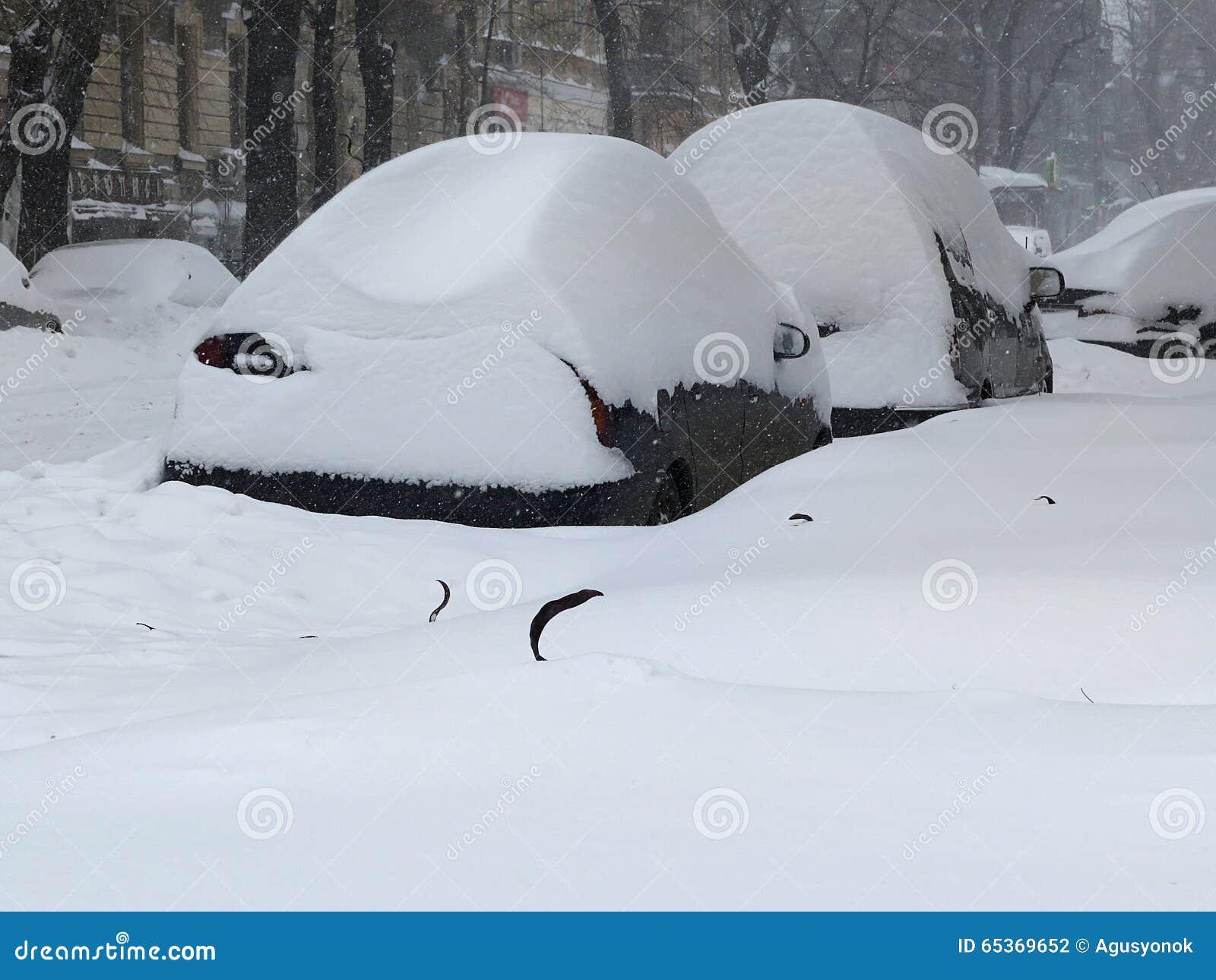 在雪,自然灾害冬天,飞雪下的汽车,大雪麻痹了城市,崩溃 积雪旋风欧洲