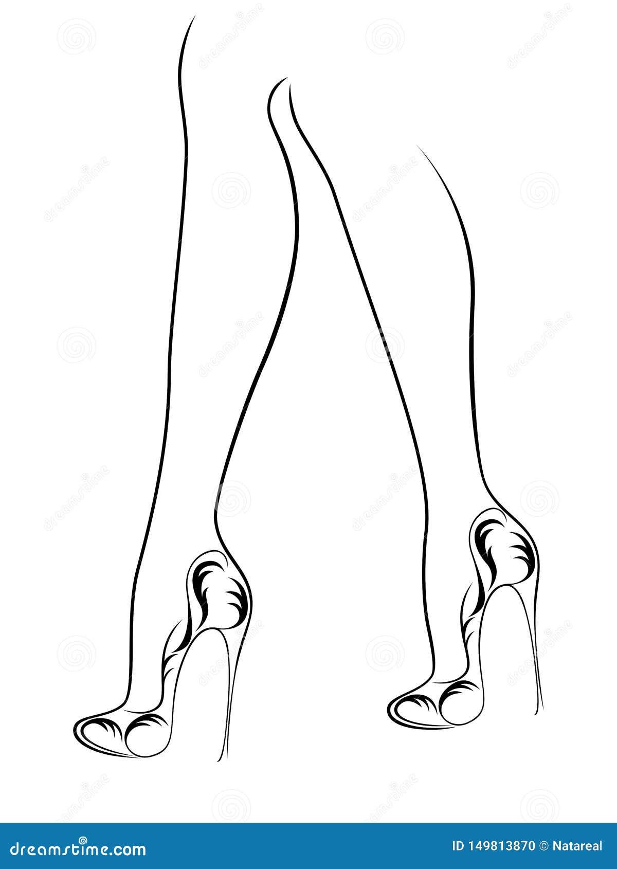 在鞋子的优美的女性脚有高跟鞋的