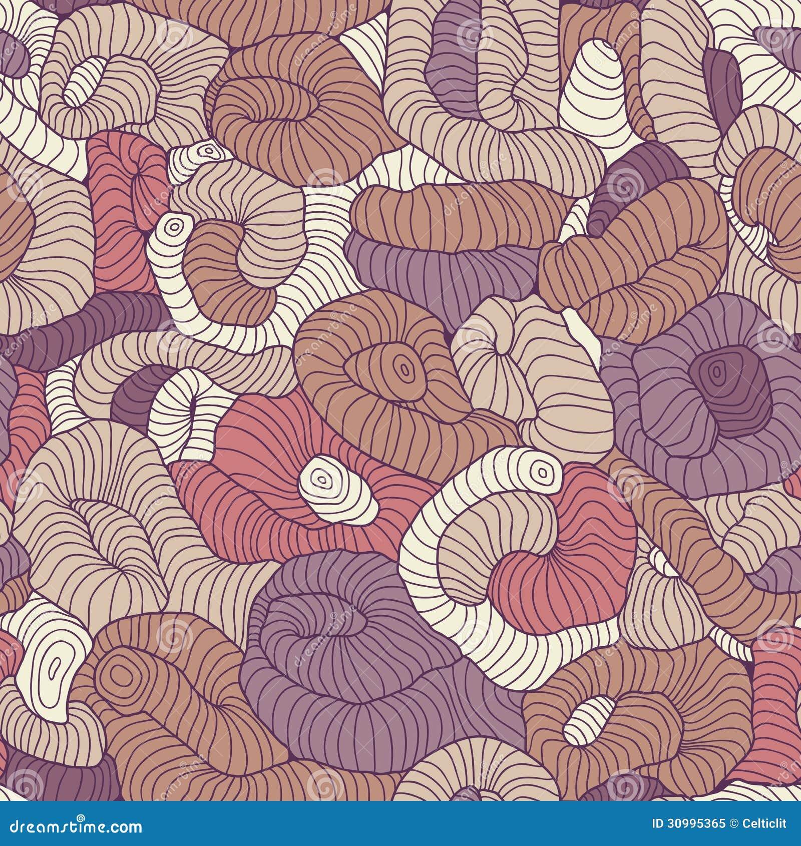 在颜色的无缝的被缠结的样式