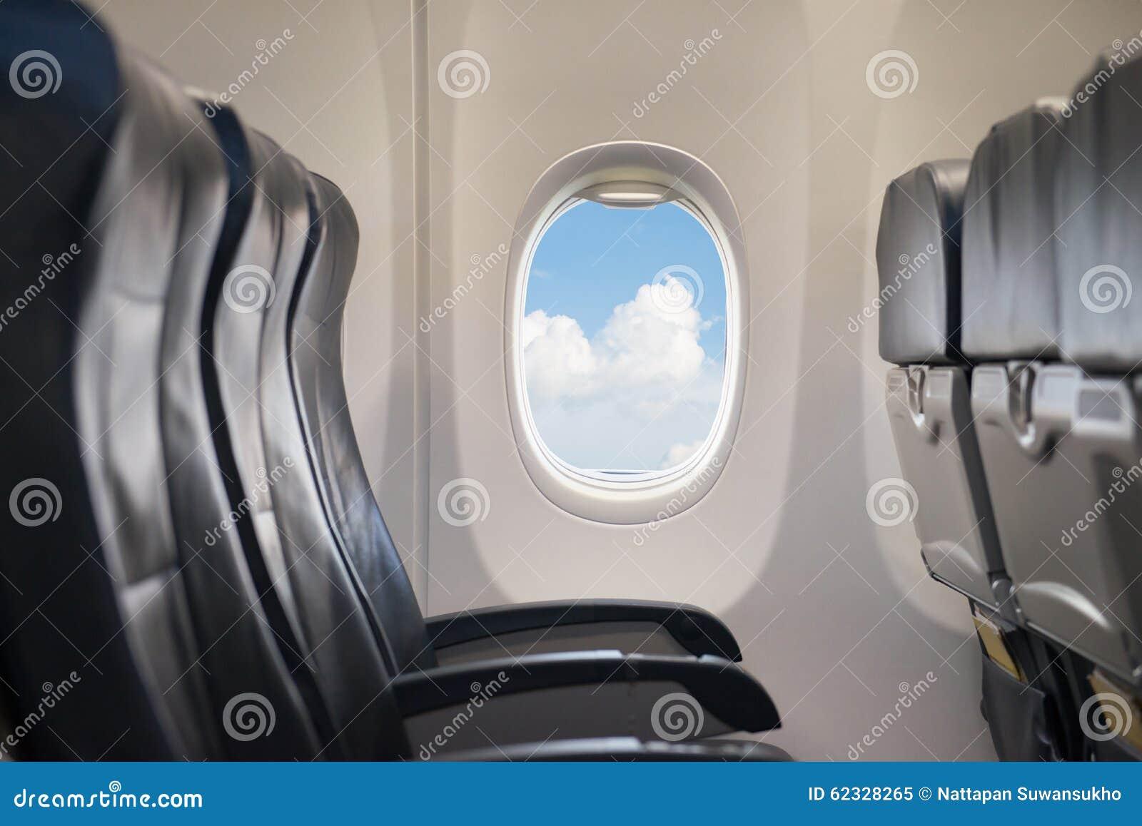 在飞机的窗口