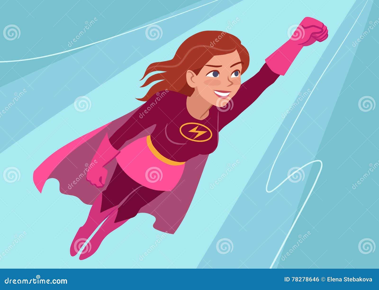 在飞行中超级英雄妇女