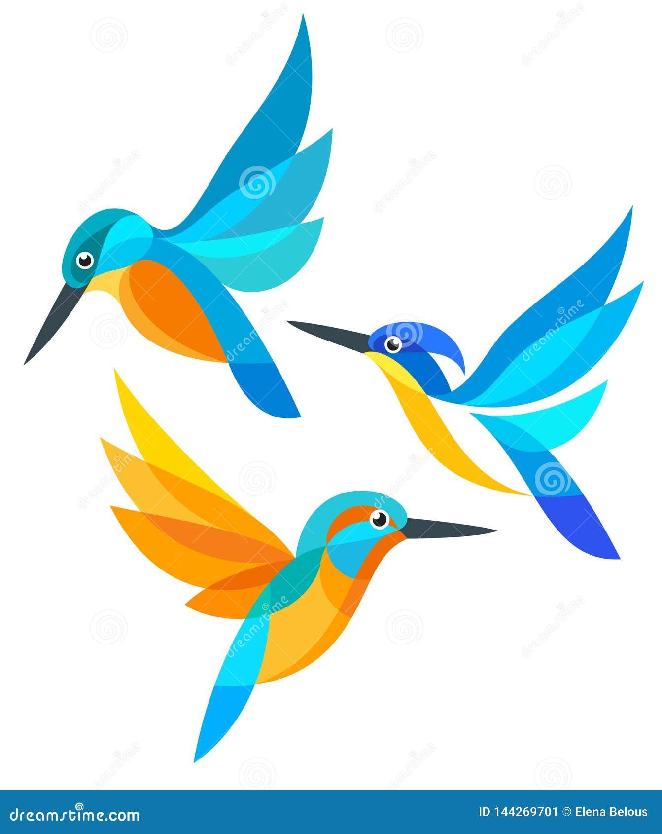 在飞行中风格化鸟