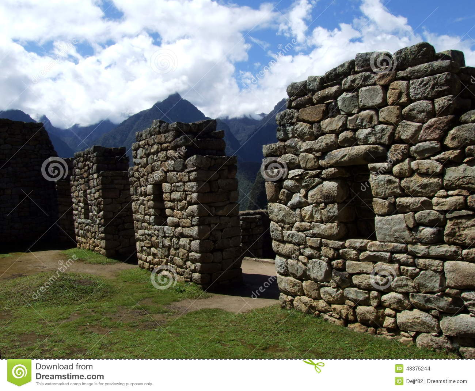 在马丘比丘的石墙