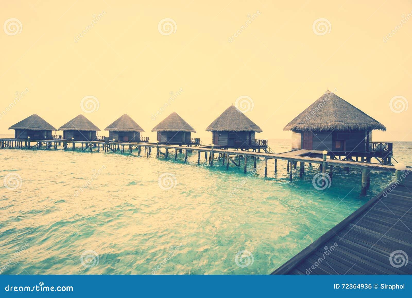在马尔代夫海岛的日落
