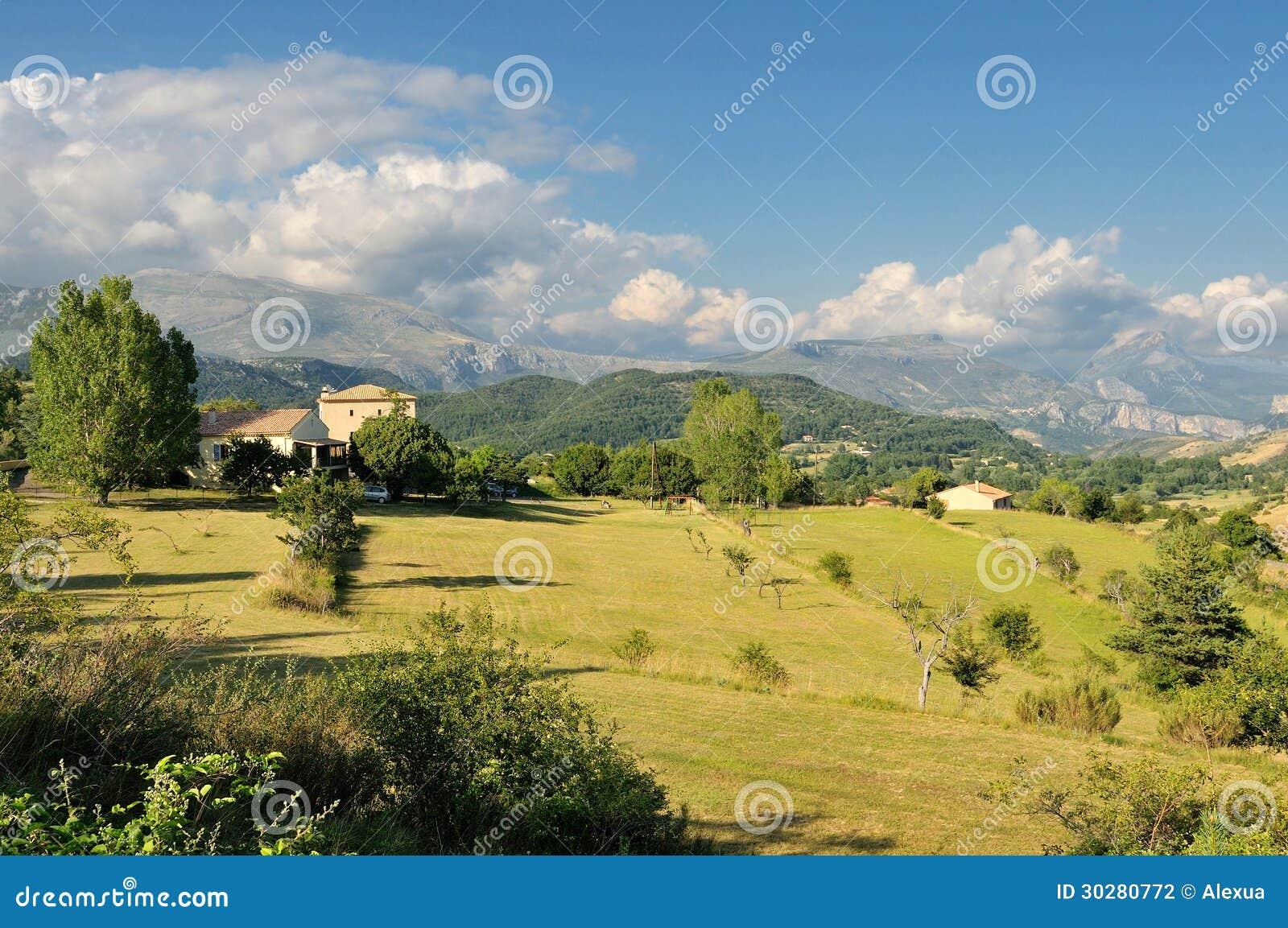 法国阿尔卑斯乡下