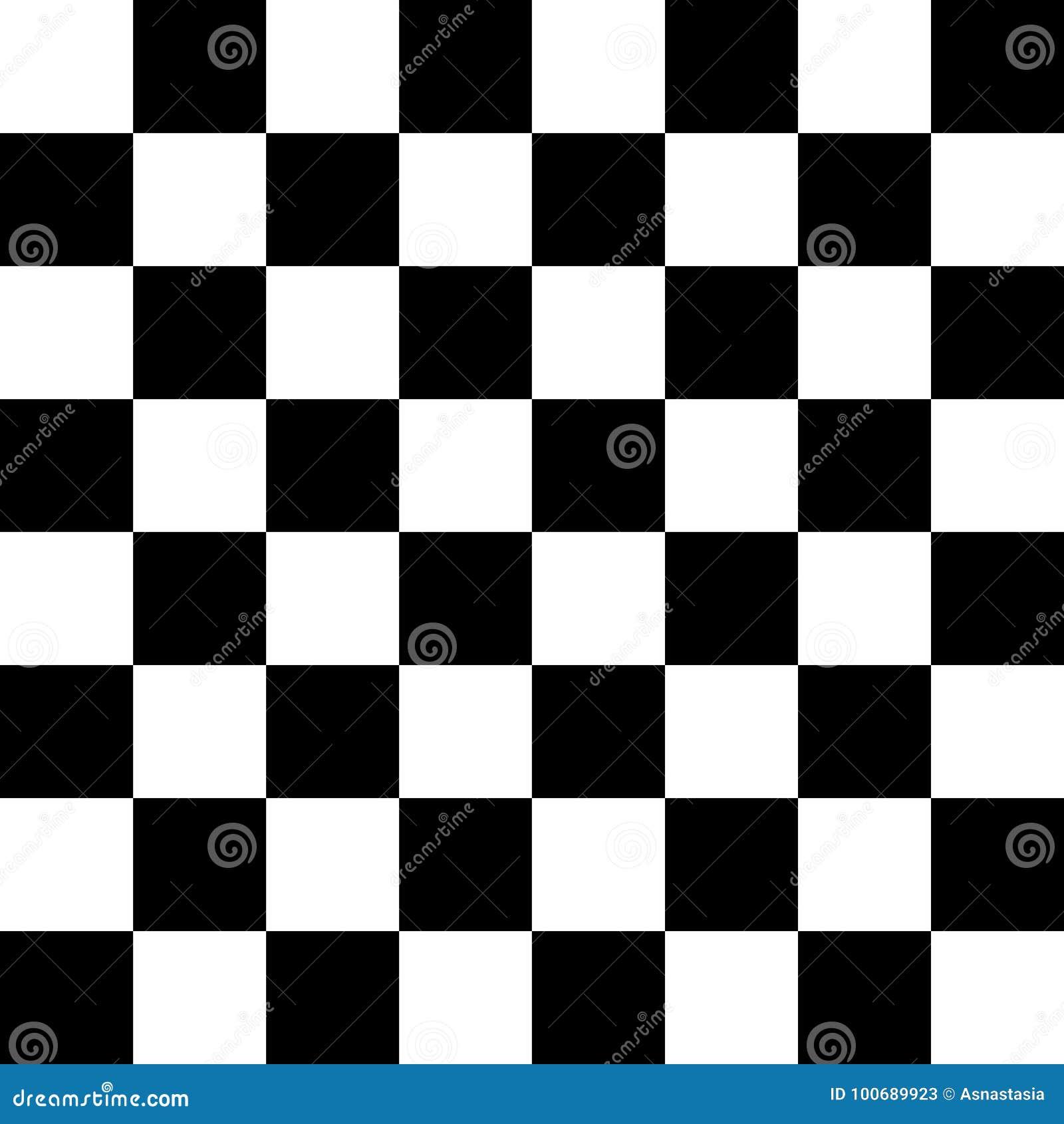 在黑白的棋枰或检测板无缝的样式 棋或验查员比赛的方格的委员会 方法