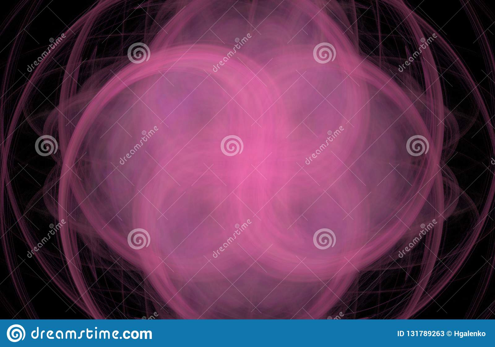 在黑背景的桃红色发怒漩涡摘要分数维 幻想分数维纹理 abstact艺术深深数字式红色转动 3d翻译 计算机生成的顶头人电汇