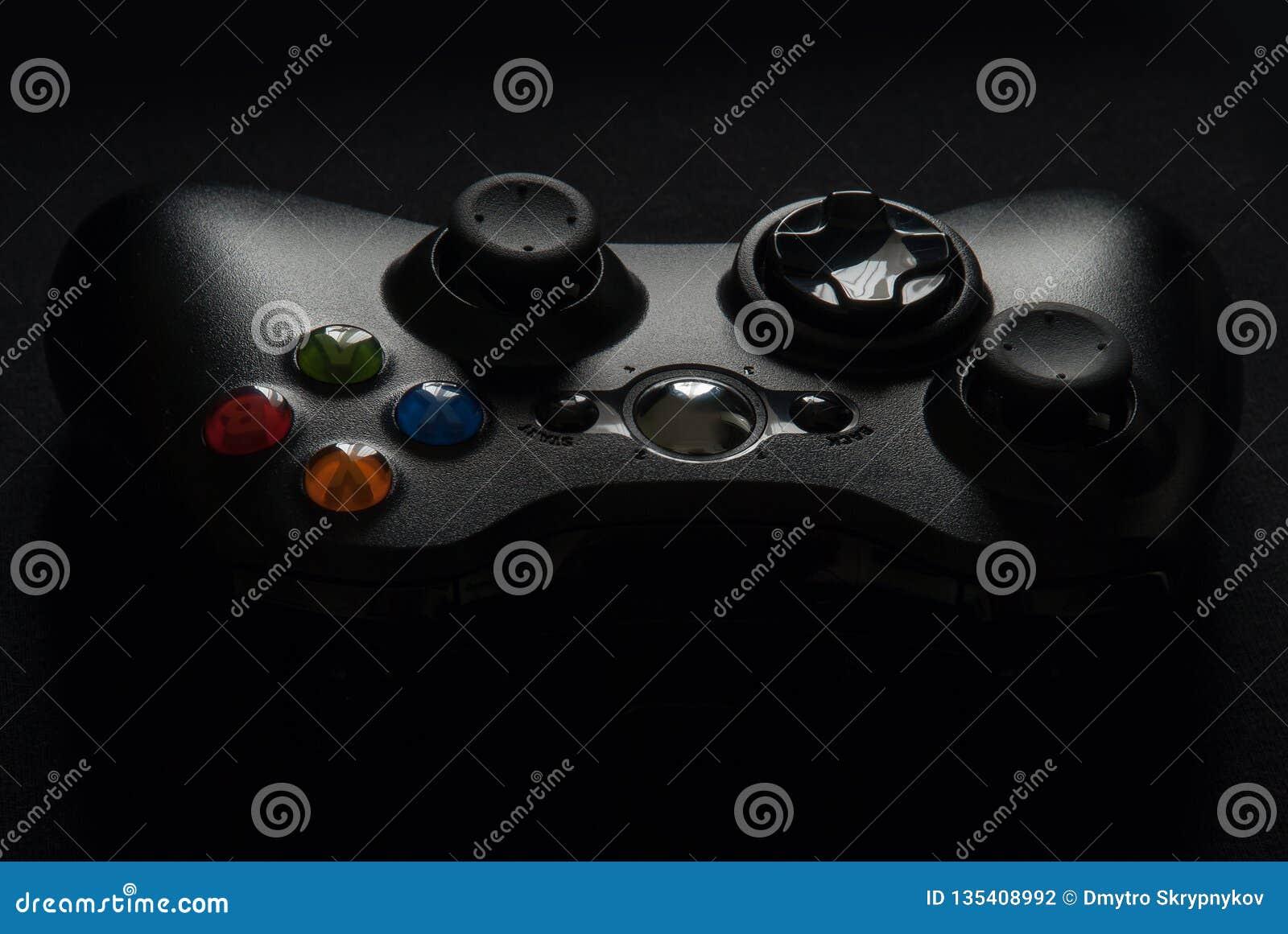 在黑背景的Gamepad