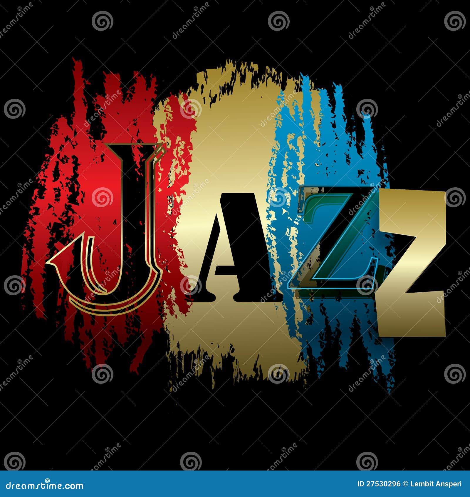 在黑色查出的字爵士乐