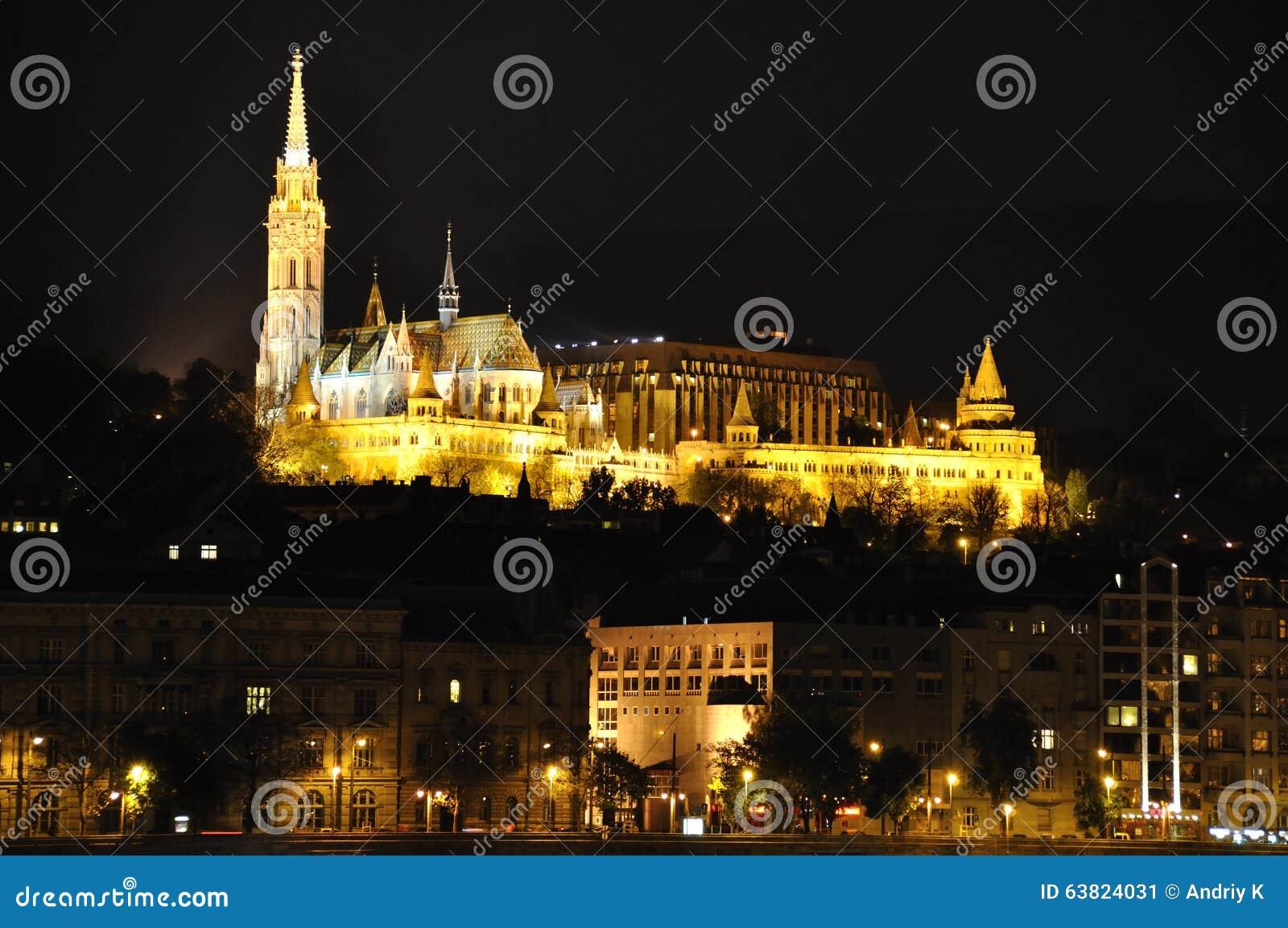 在登上的布达佩斯城堡