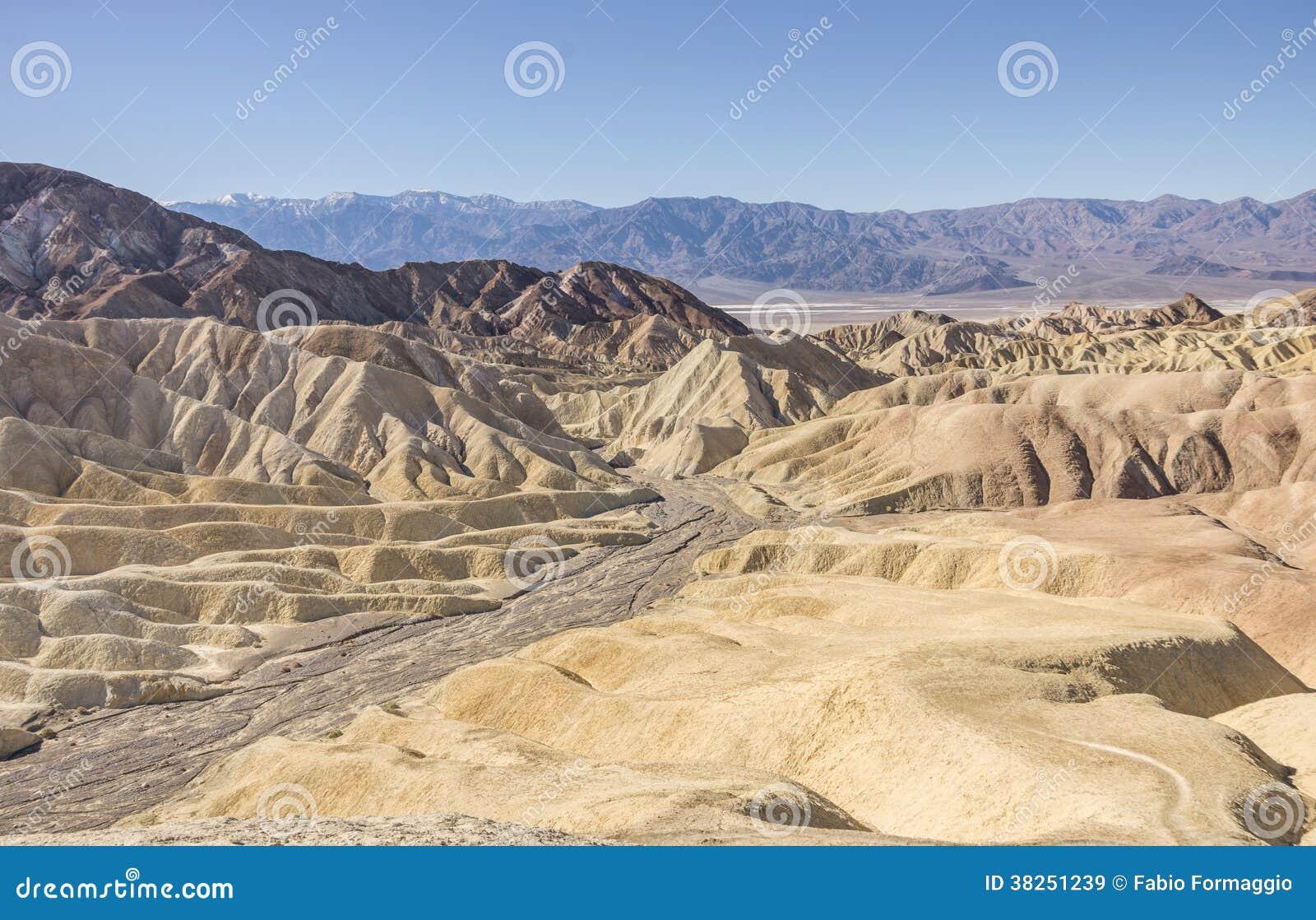 在死亡谷,加利福尼亚的Zabriskie点