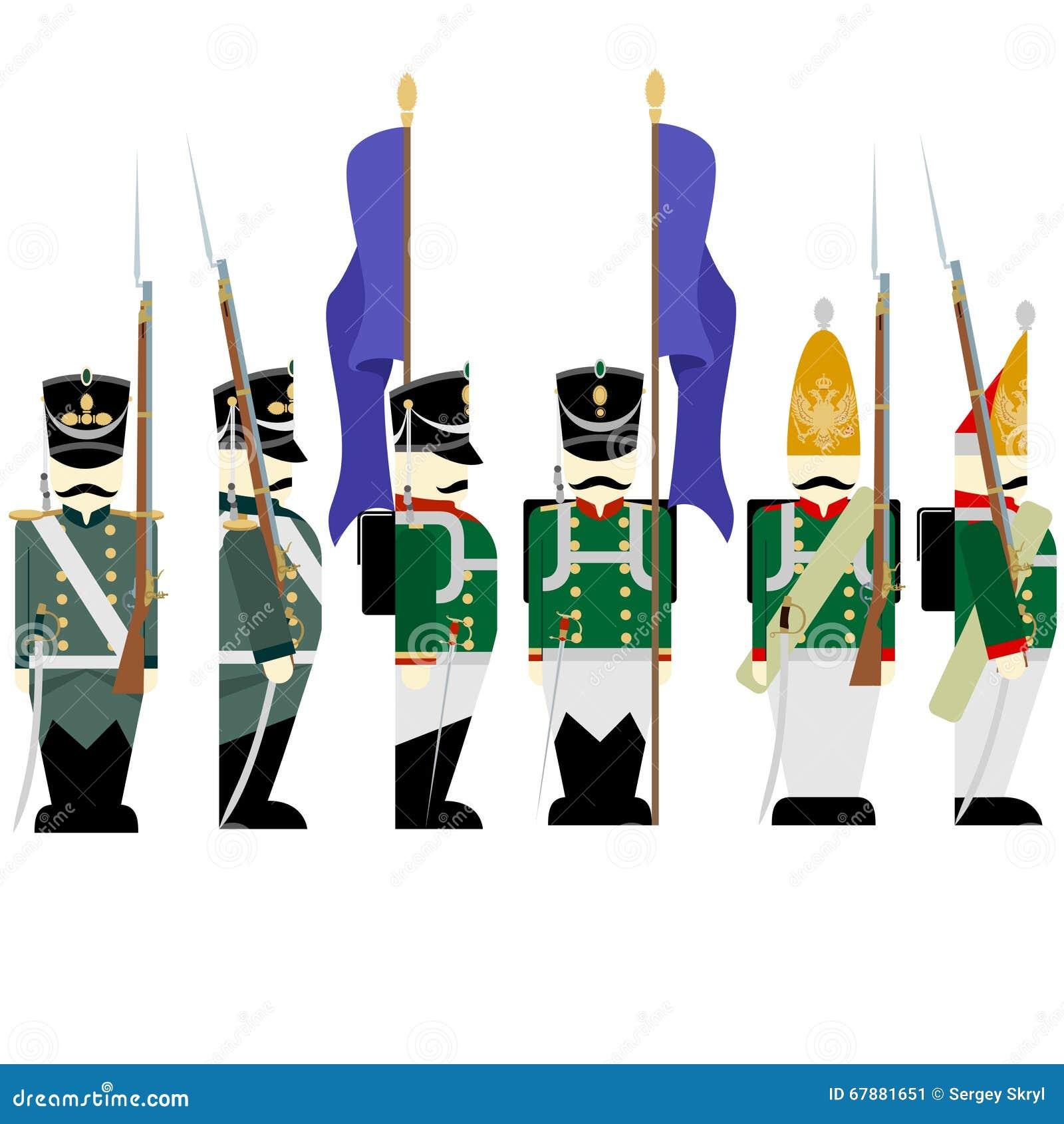 在1812-3军服俄国军队