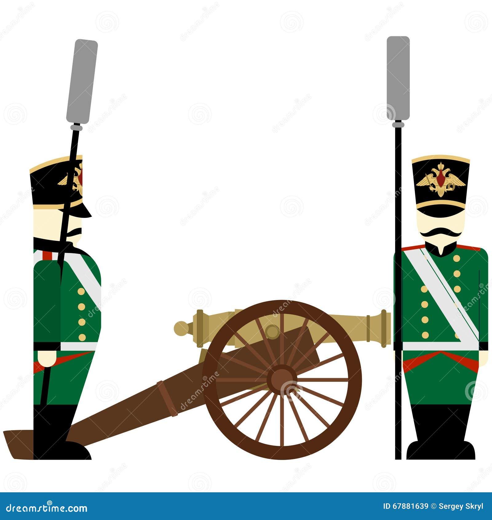 在1812年军服军队火炮俄罗斯