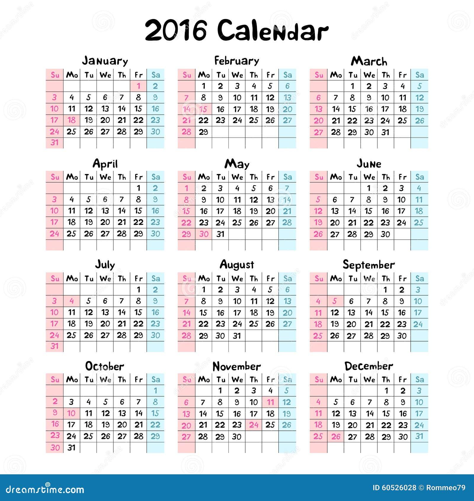在2016年哄骗手工制造日历图片