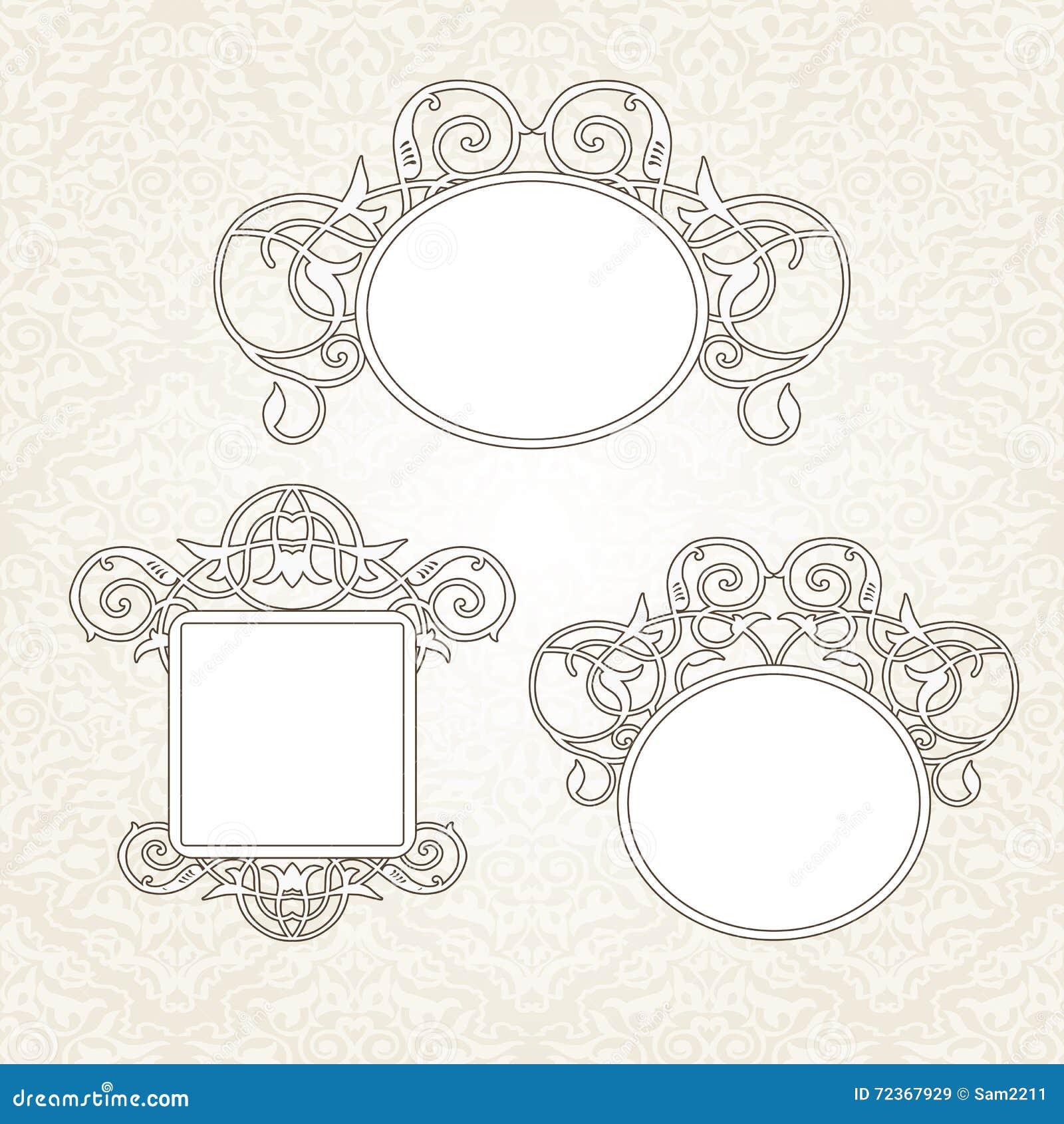 在维多利亚女王时代的样式的传染媒介装饰框架