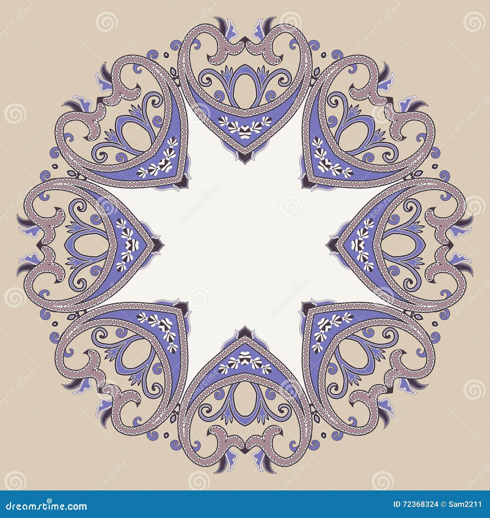 在维多利亚女王时代的样式的装饰华丽圆的框架