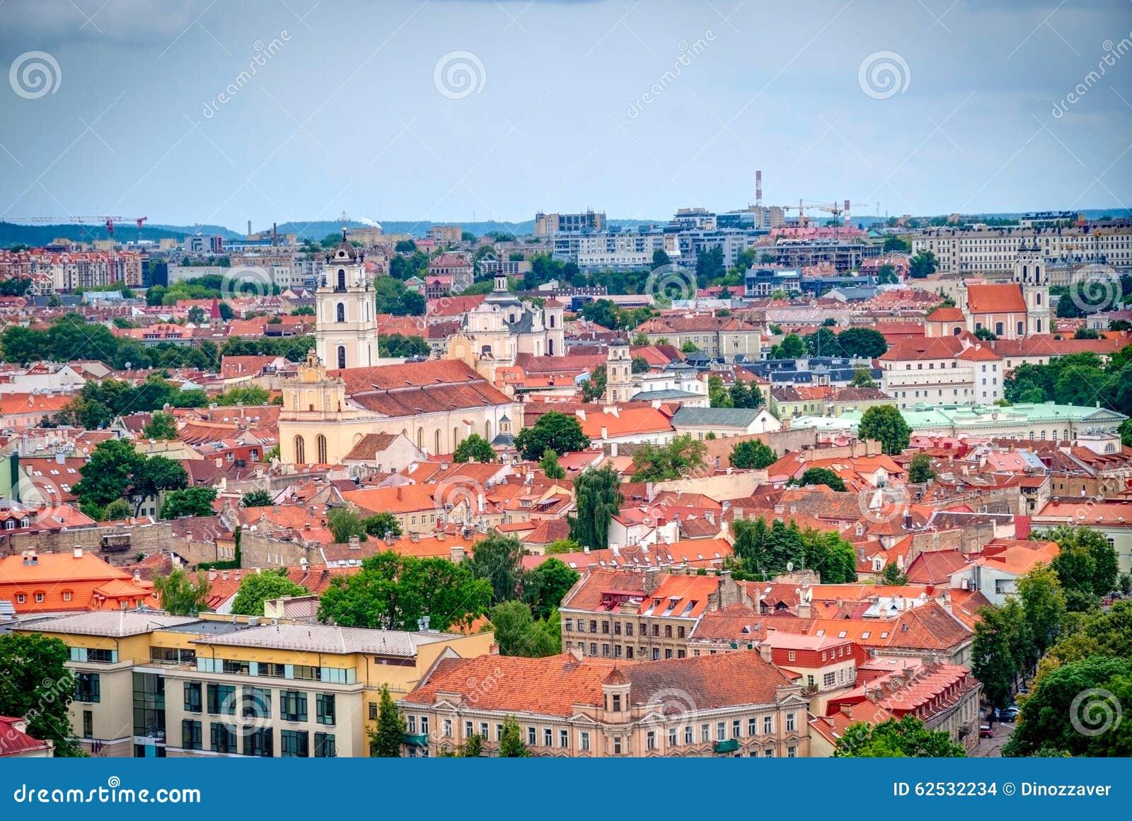 在维尔纽斯,立陶宛, HDR照片的首都的看法