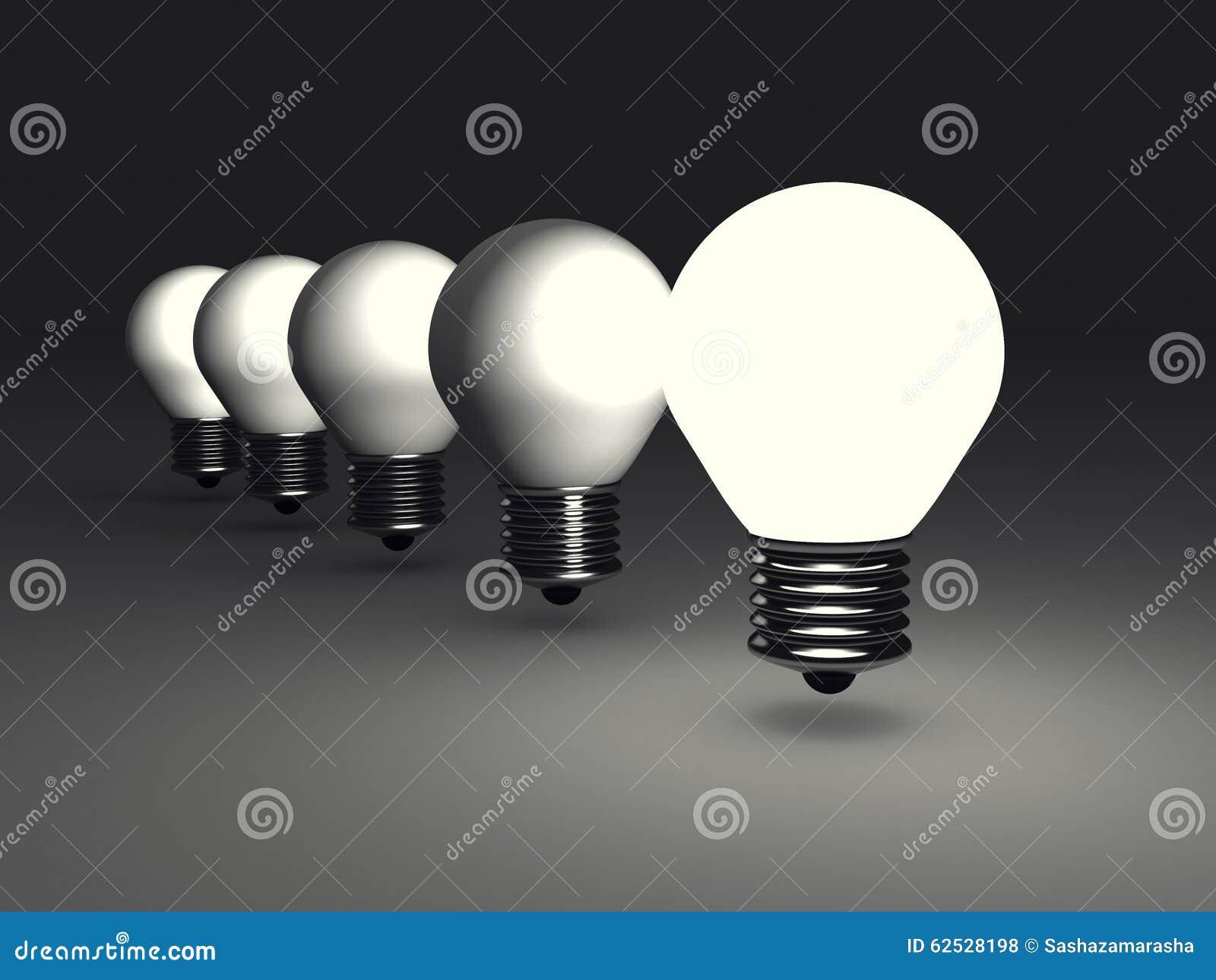 在黑暗的领导人想法电灯泡