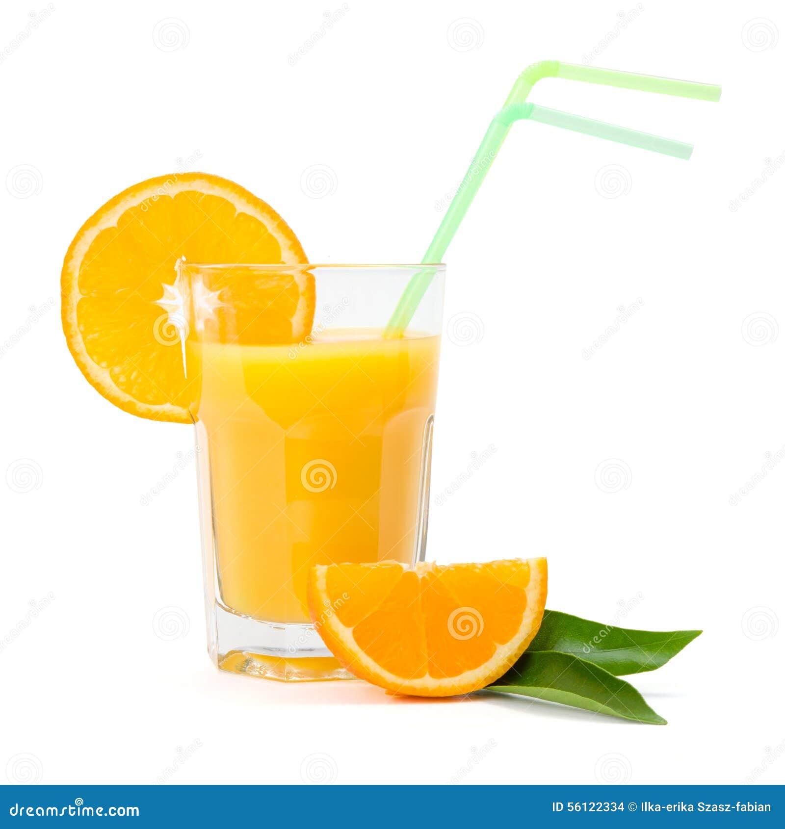 在玻璃的橙汁