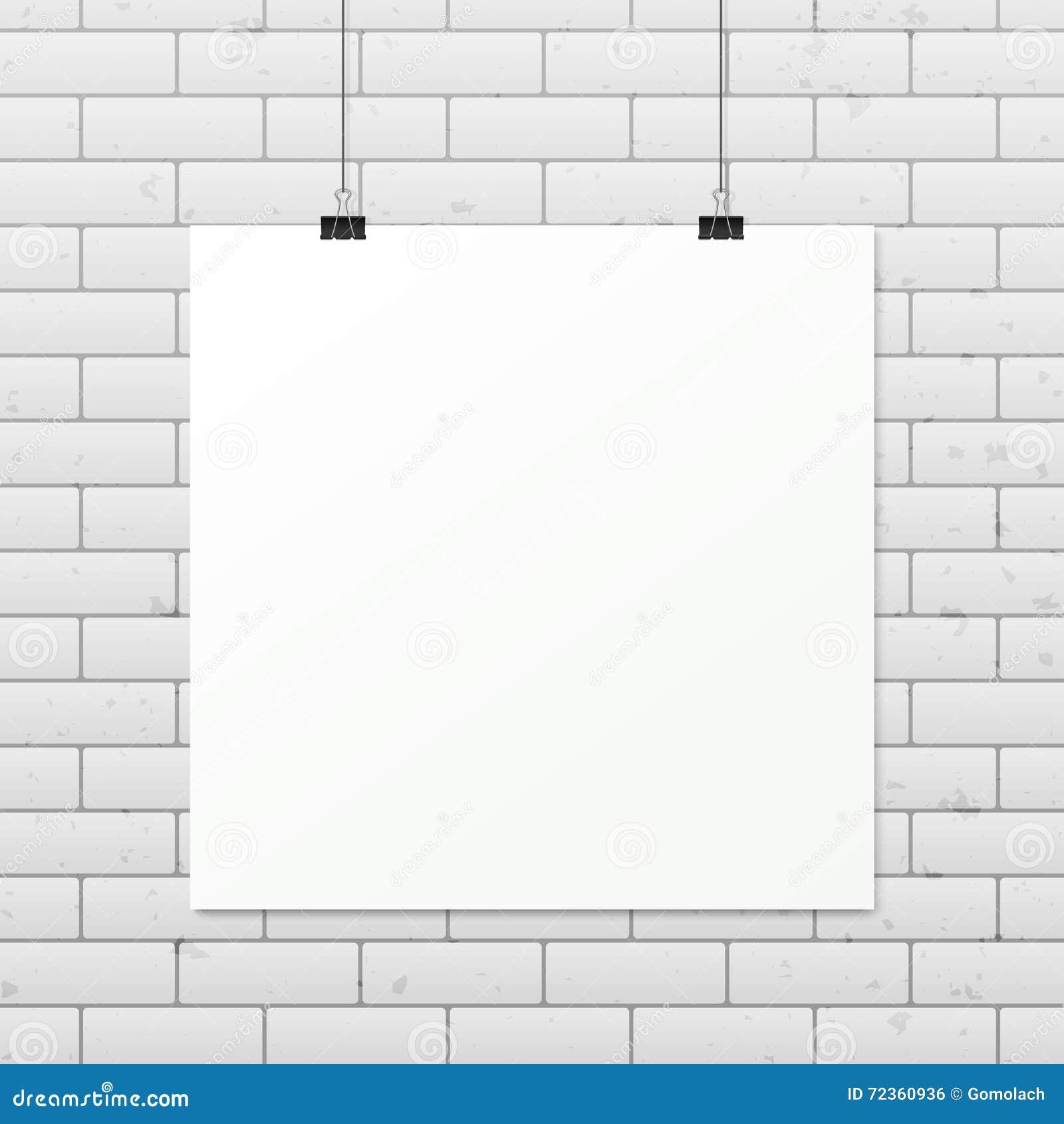 在绳索的白色垂直的海报A4