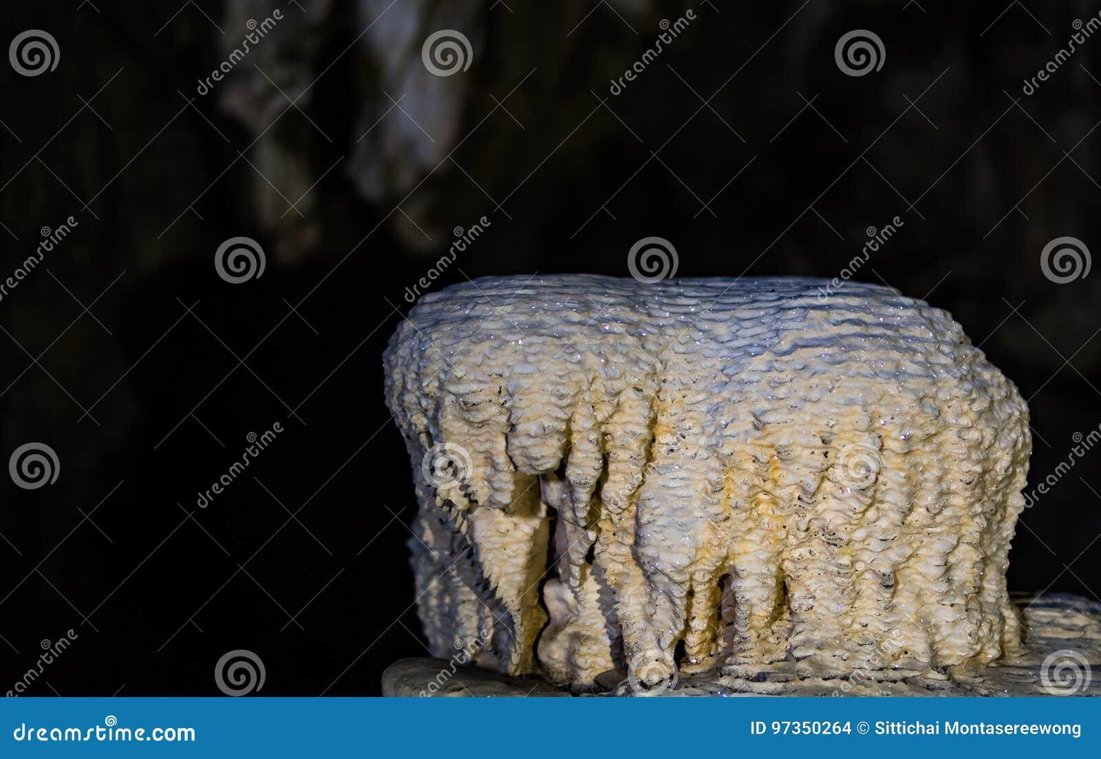 在洞的钟乳石塑造了象大象