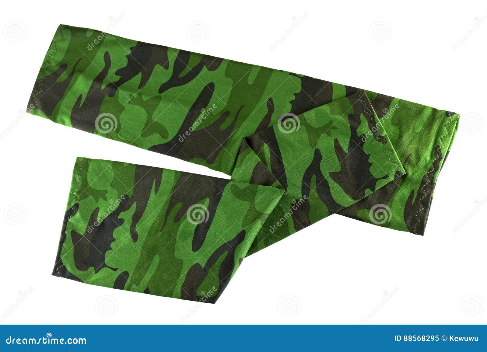 在绿色伪装样式盖的和prot的无指的失去指的袖子