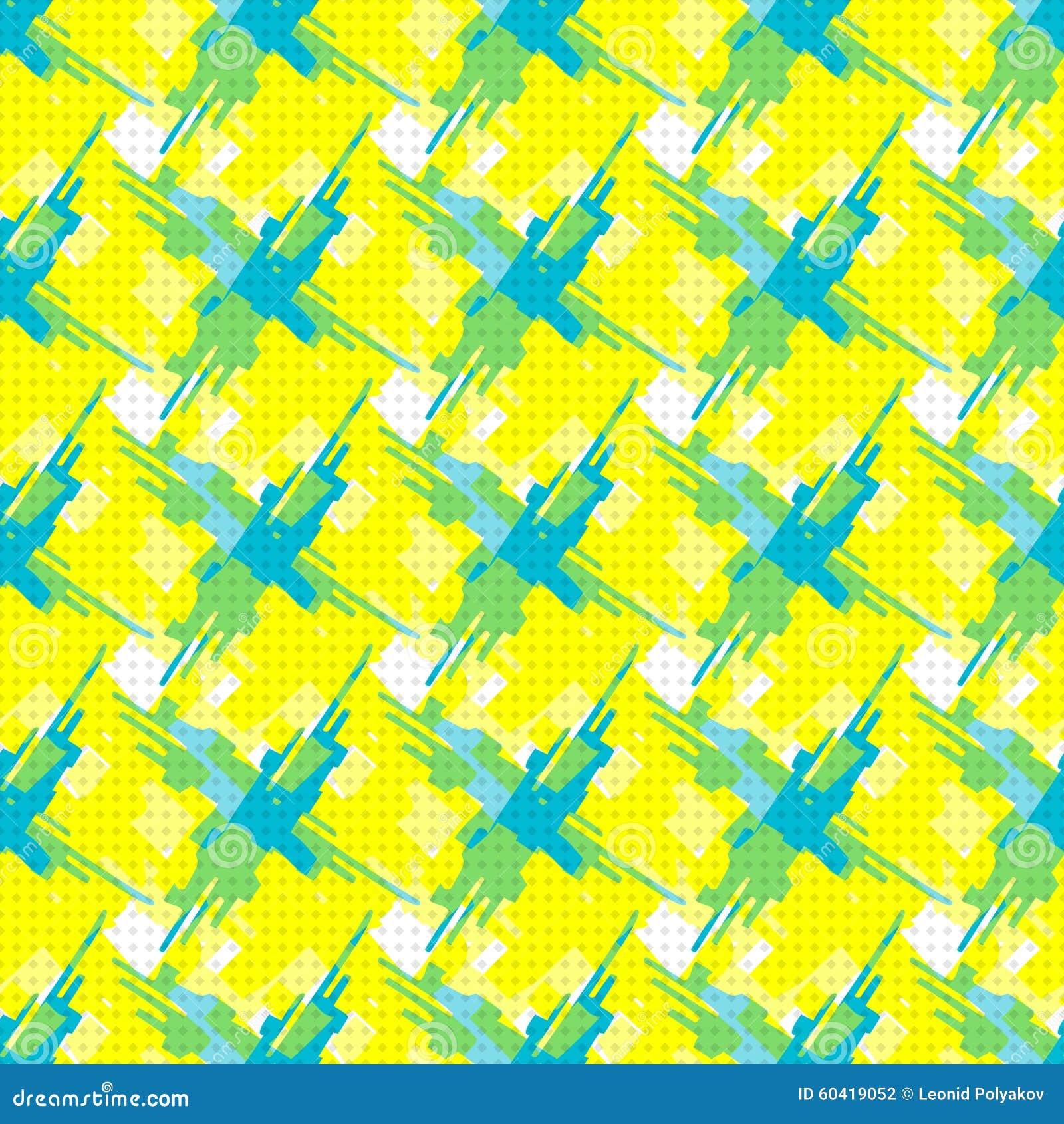 在黄色背景的抽象几何对象