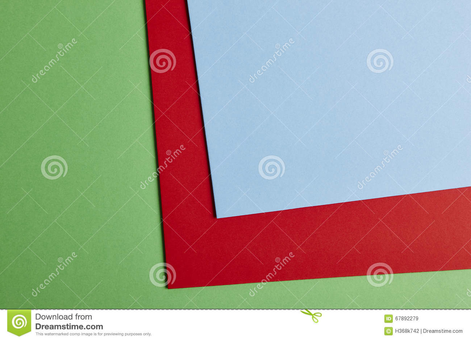 在绿色,红色,蓝色口气的色的纸板背景 复制温泉