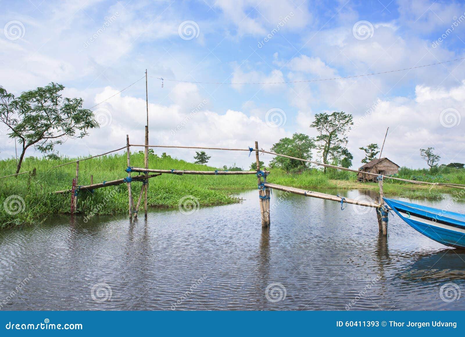 在Ayeyarwaddy地区的风景在缅甸